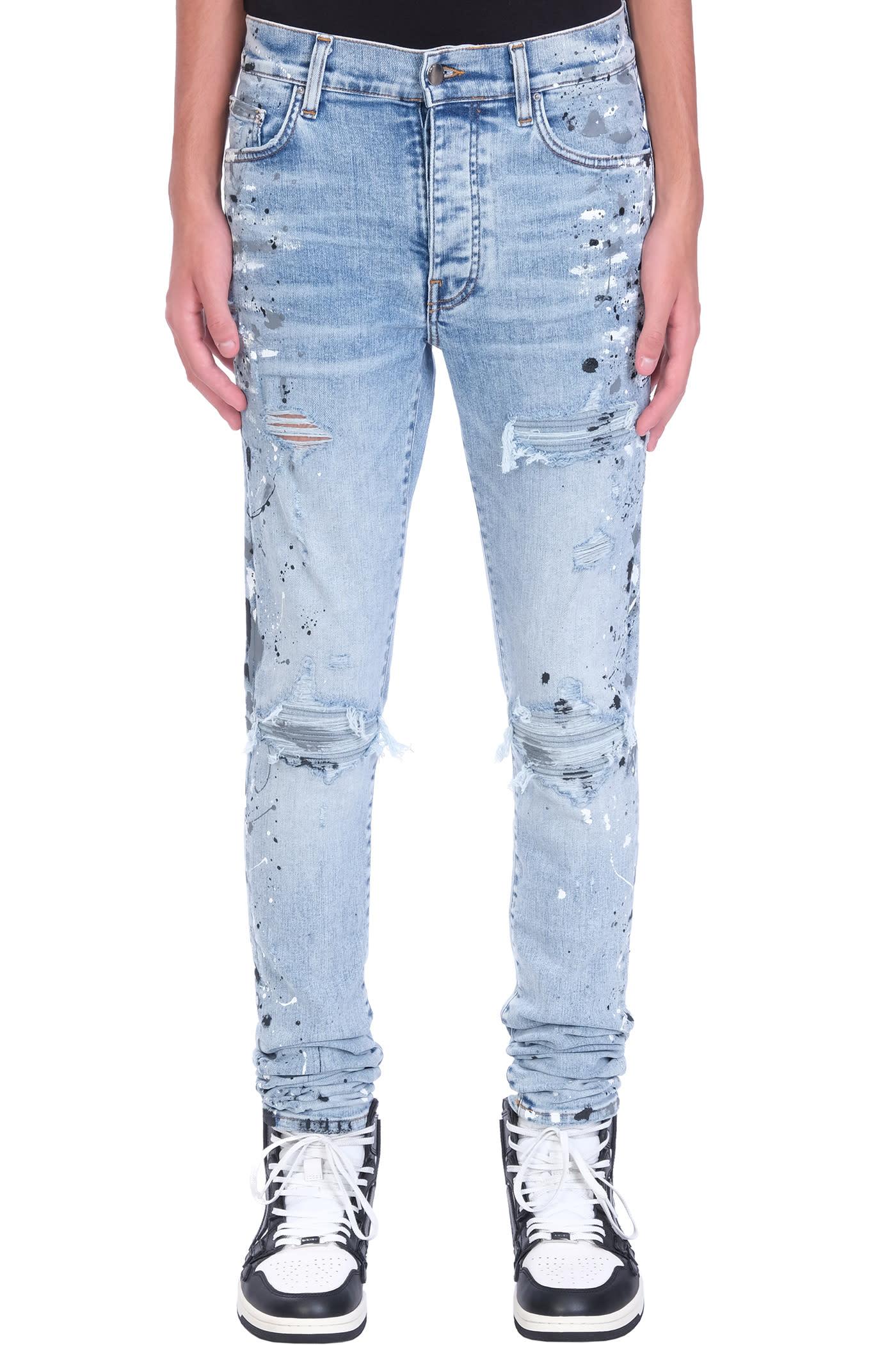 AMIRI Jeans In Cyan Cotton