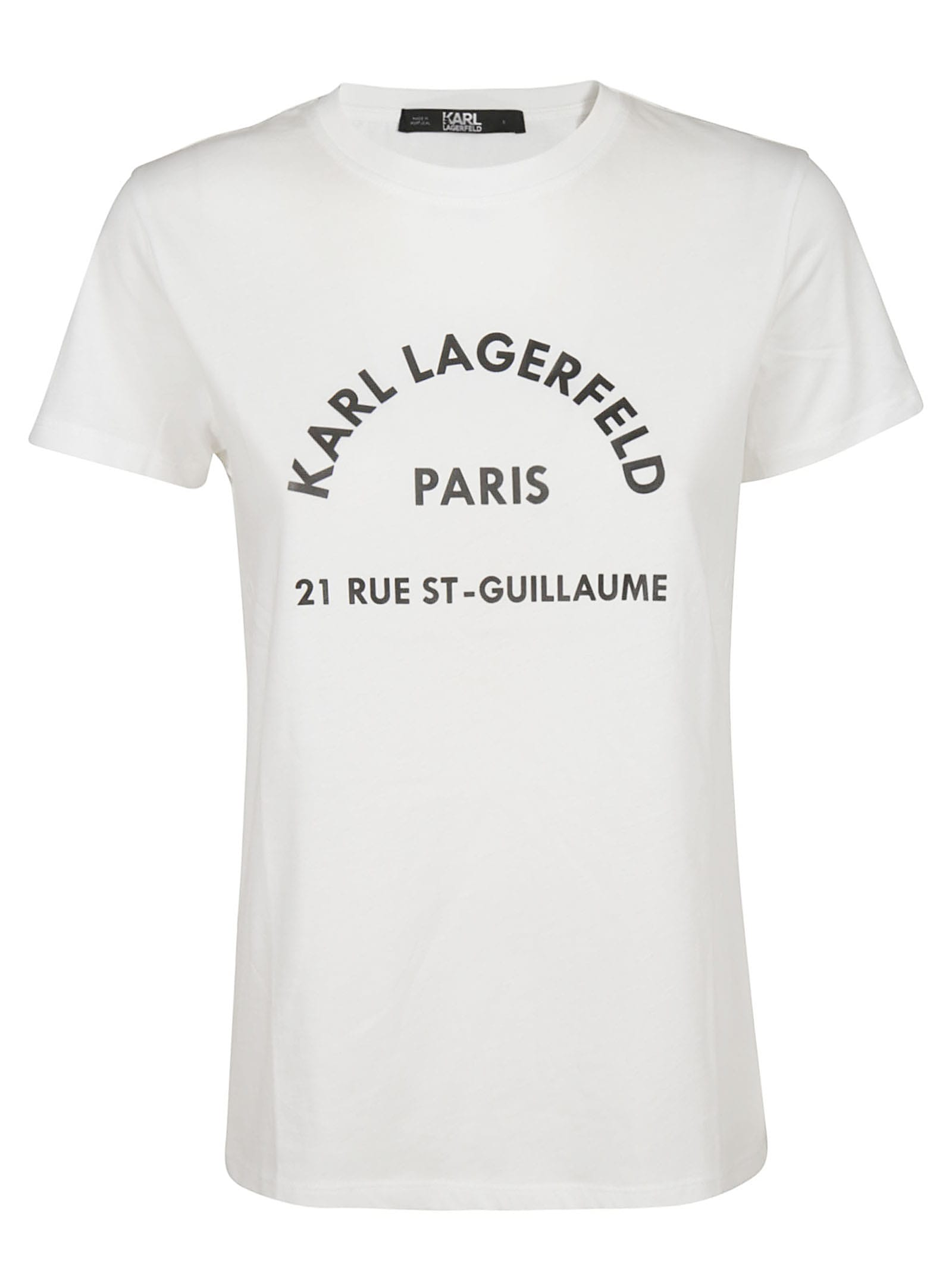 Karl Lagerfeld Address Print T-shirt