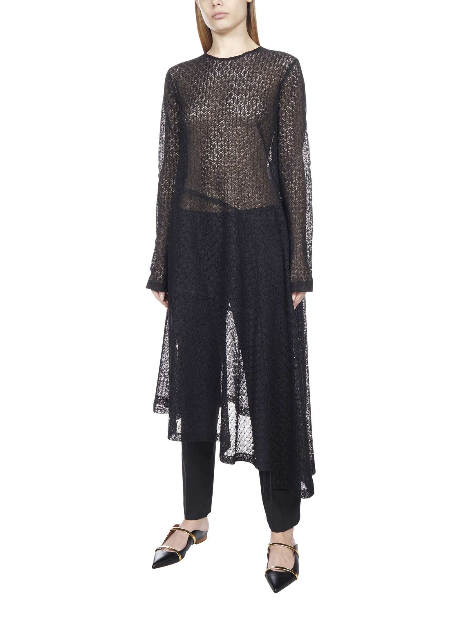 Buy Jil Sander Techno With Lace Pattern Dress online, shop Jil Sander with free shipping