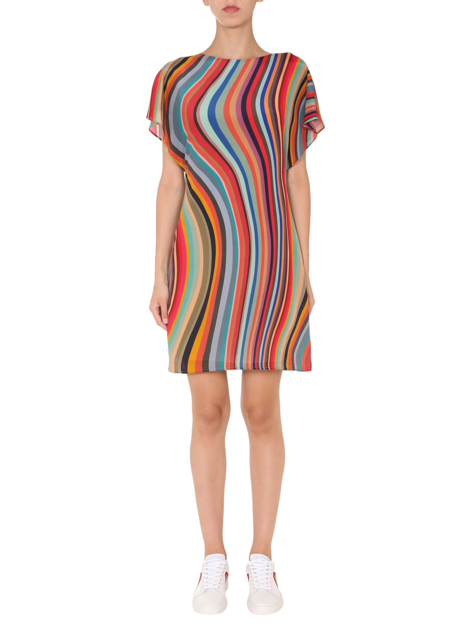 Ps By Paul Smith Dresses DRESS WITH STRIPED PATTERN