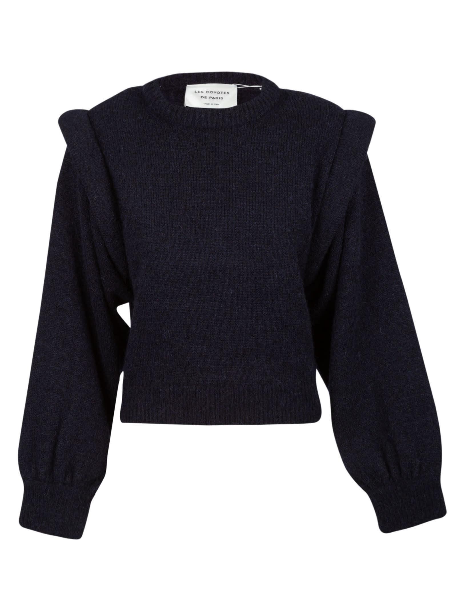 Wide Sleeve Plain Sweater