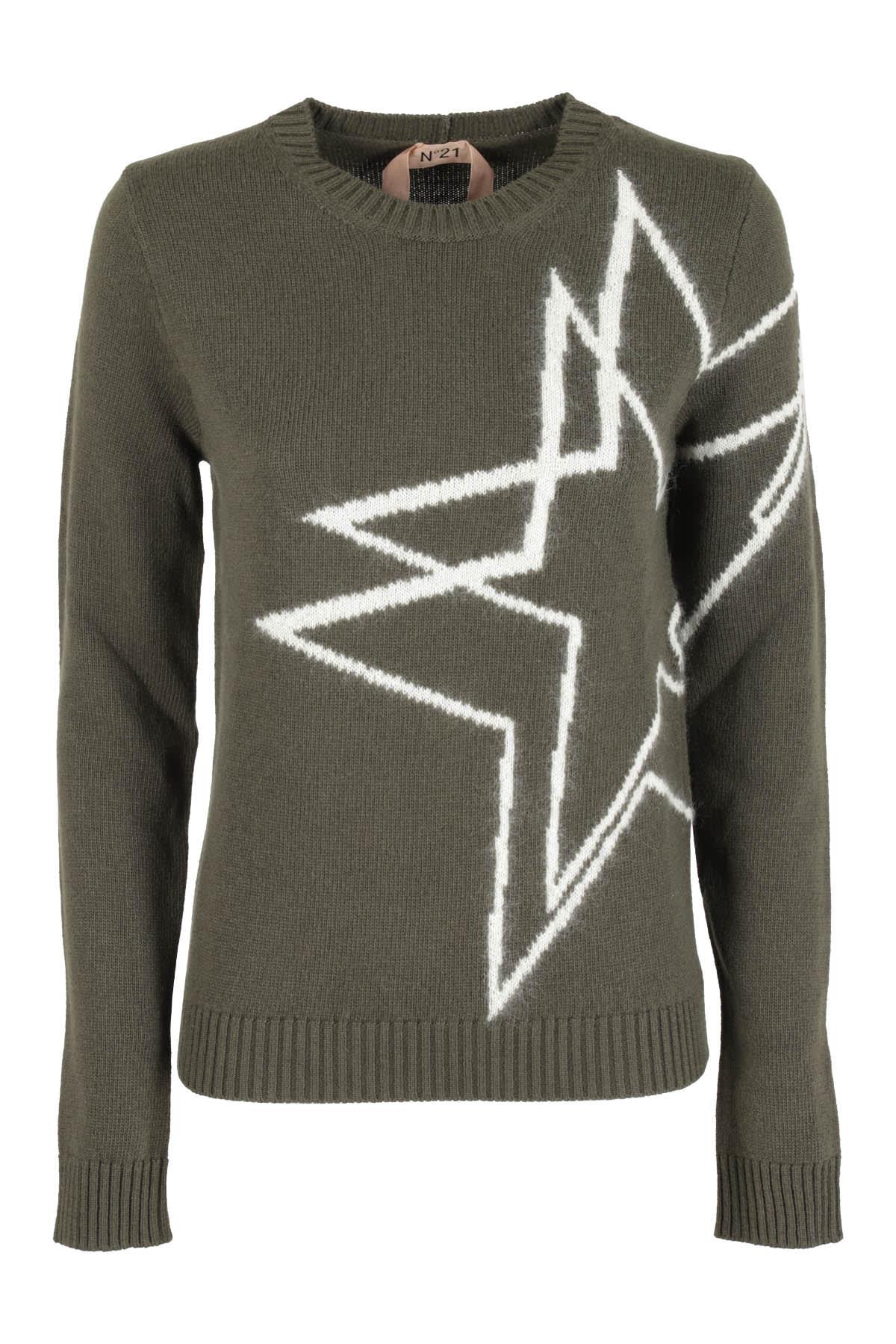 N°21 Sweater In Verde