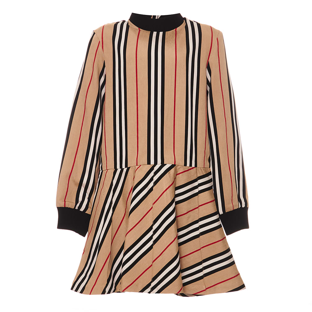 Burberry Icon Check Striped Dress