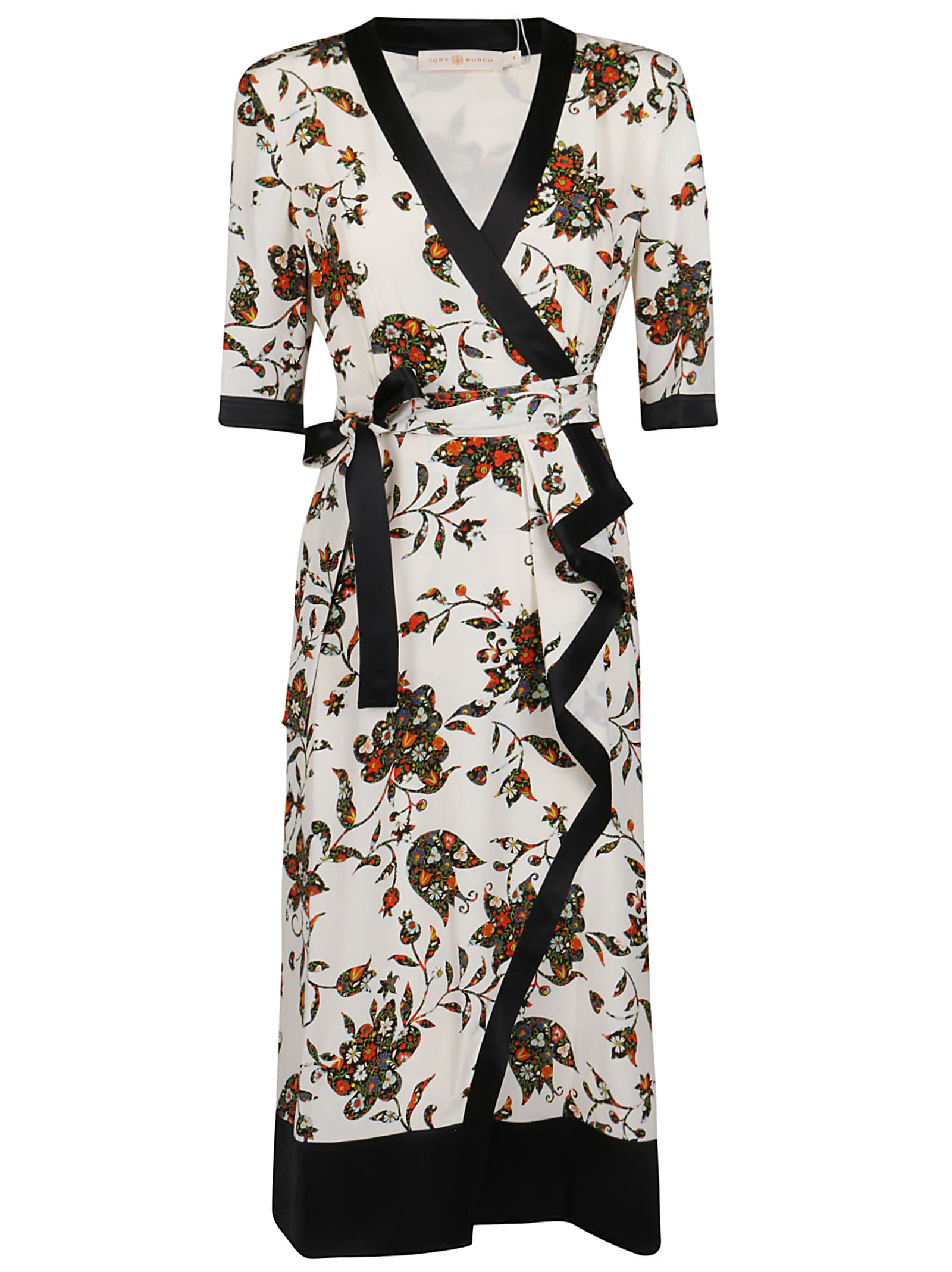 Buy Tory Burch Wrap Floral Dress online, shop Tory Burch with free shipping