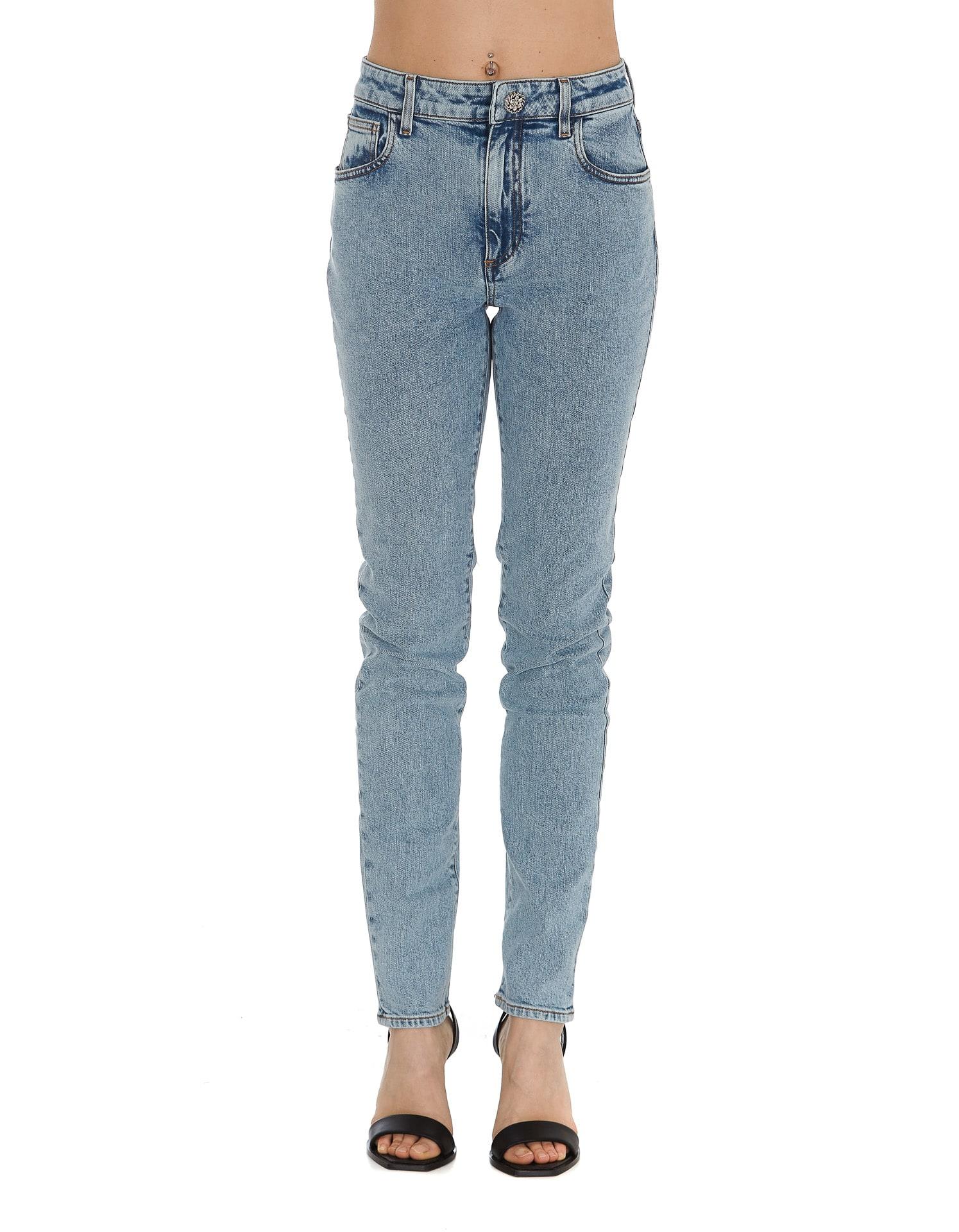 Alessandra Rich Jeans HIGH WAIST SKINNY DENIM
