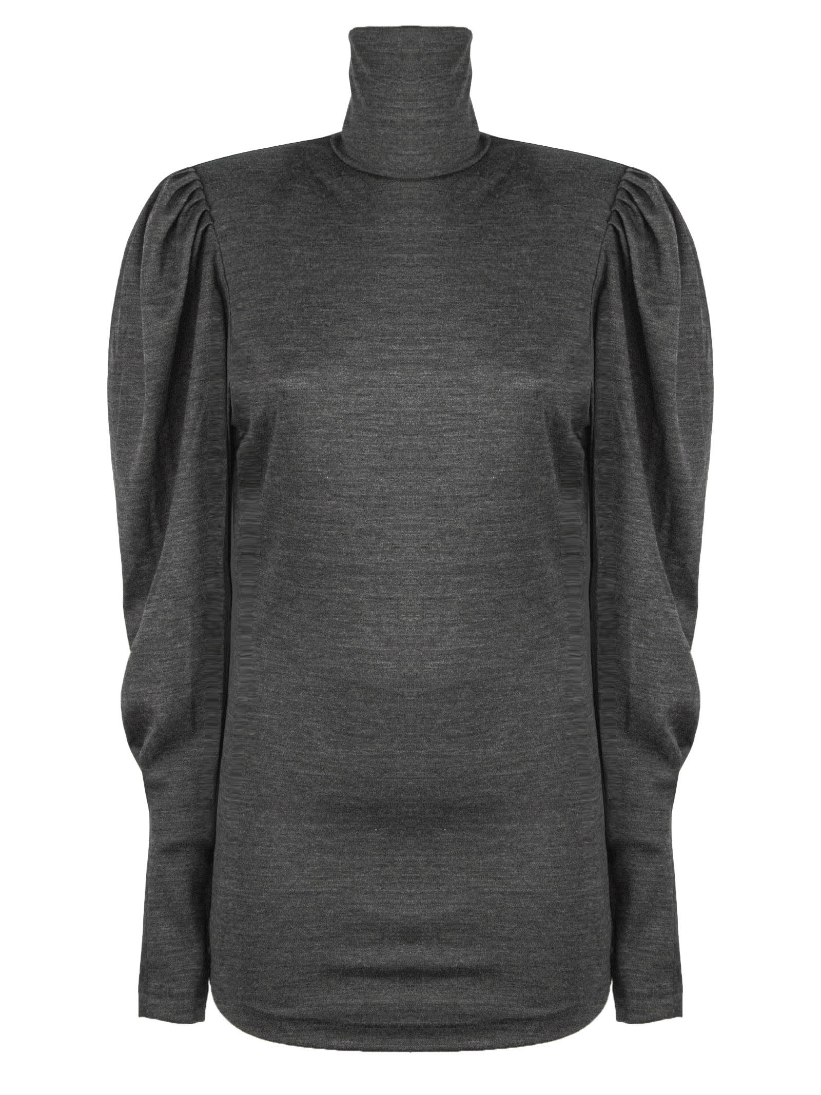 Isabel Marant Gavina Topwear In Grey Wool In Grigio
