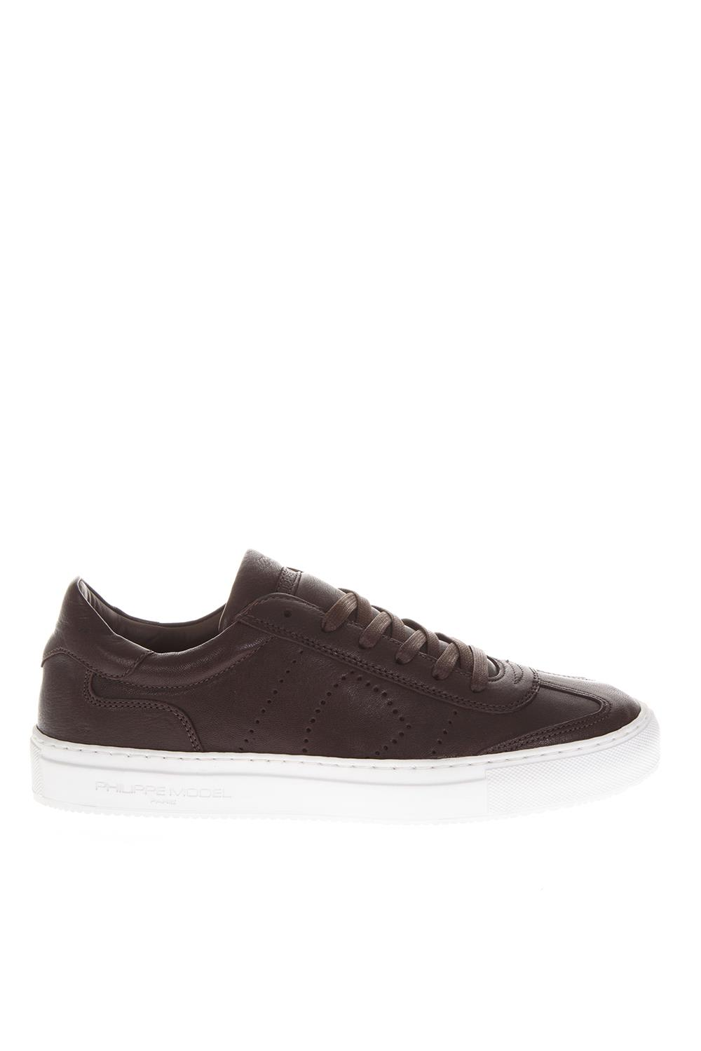 Philippe Model Belleville West Antracite Sneakers In Leather