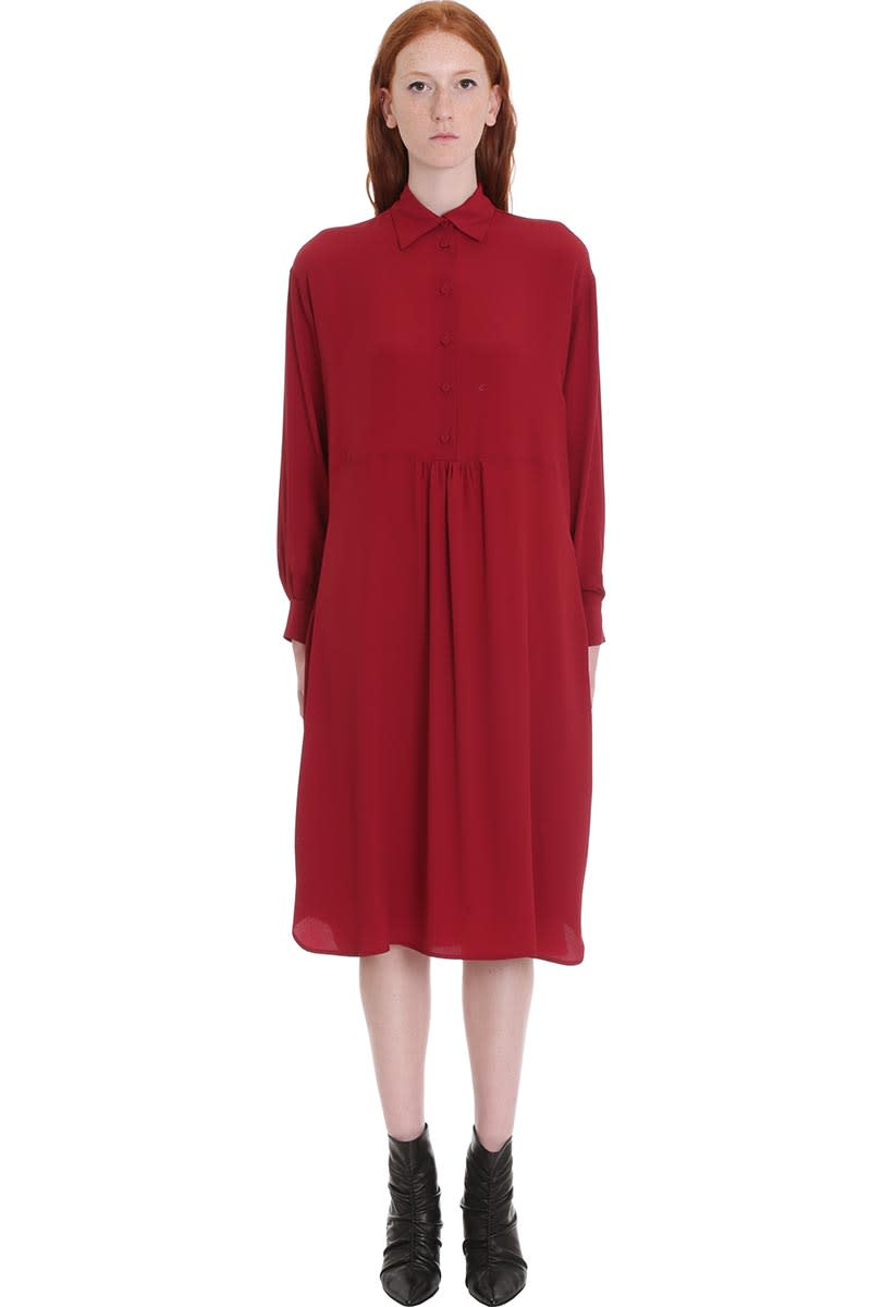 Mauro Grifoni Dress In Bordeaux Tech & synthetic