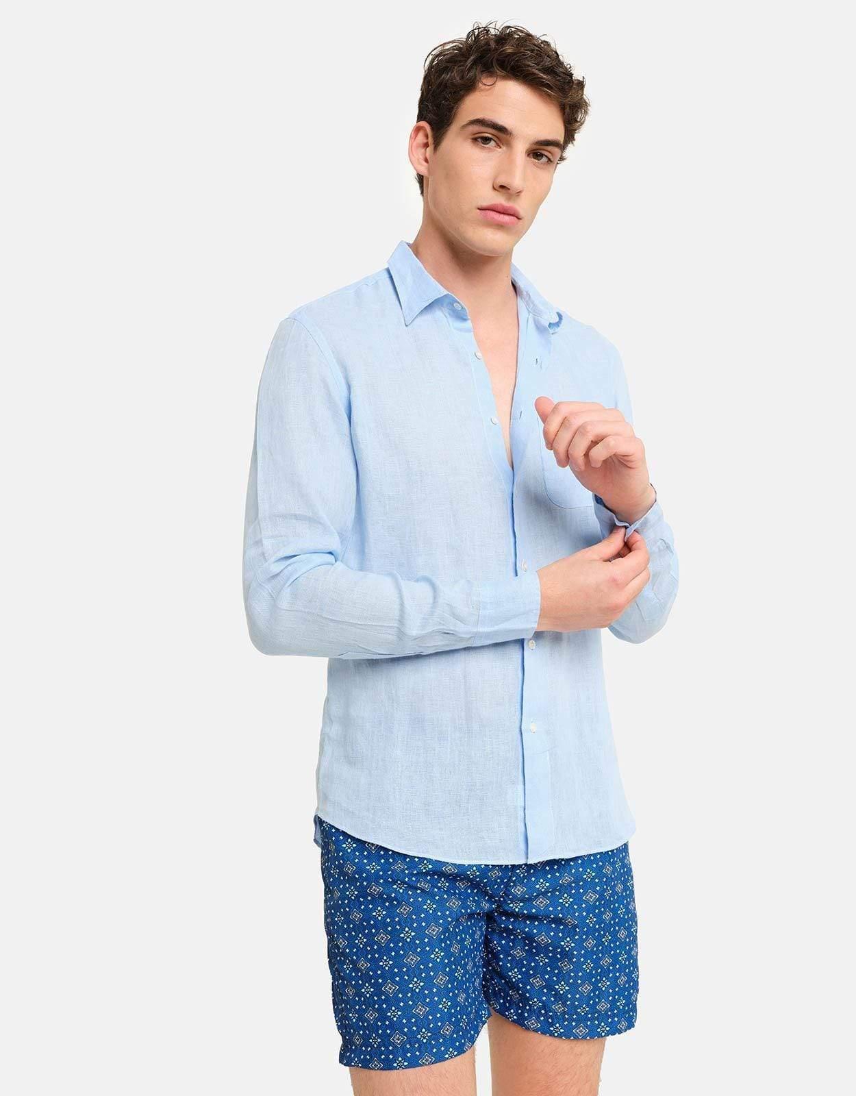 Peninsula Swimwear Linens SHIRT BUDELLI LINEN