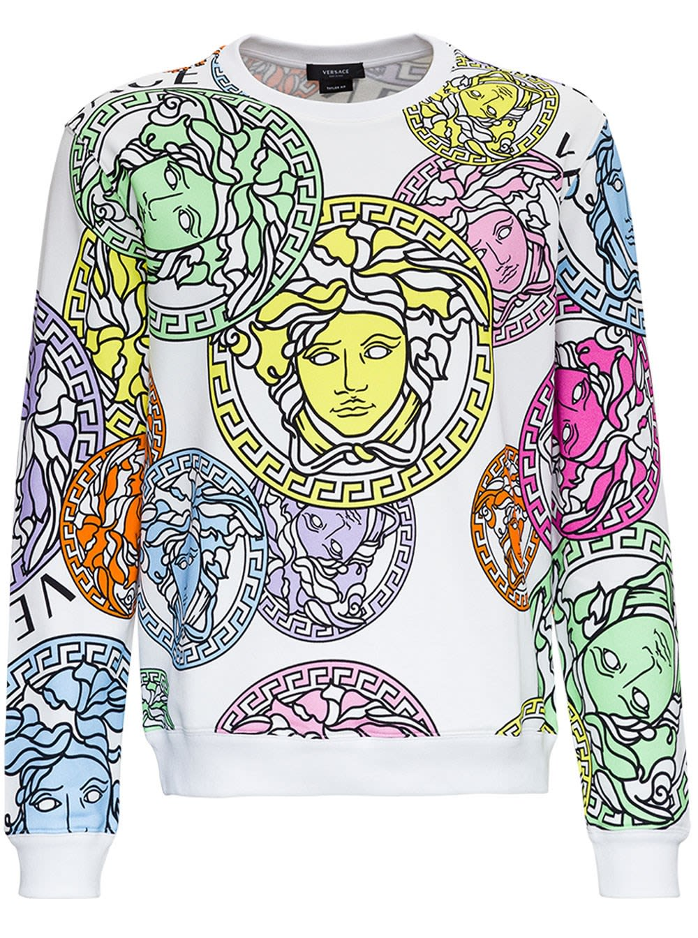 VERSACE SWEATSHIRT WITH MEDUSA AMPLIFIED PRINT