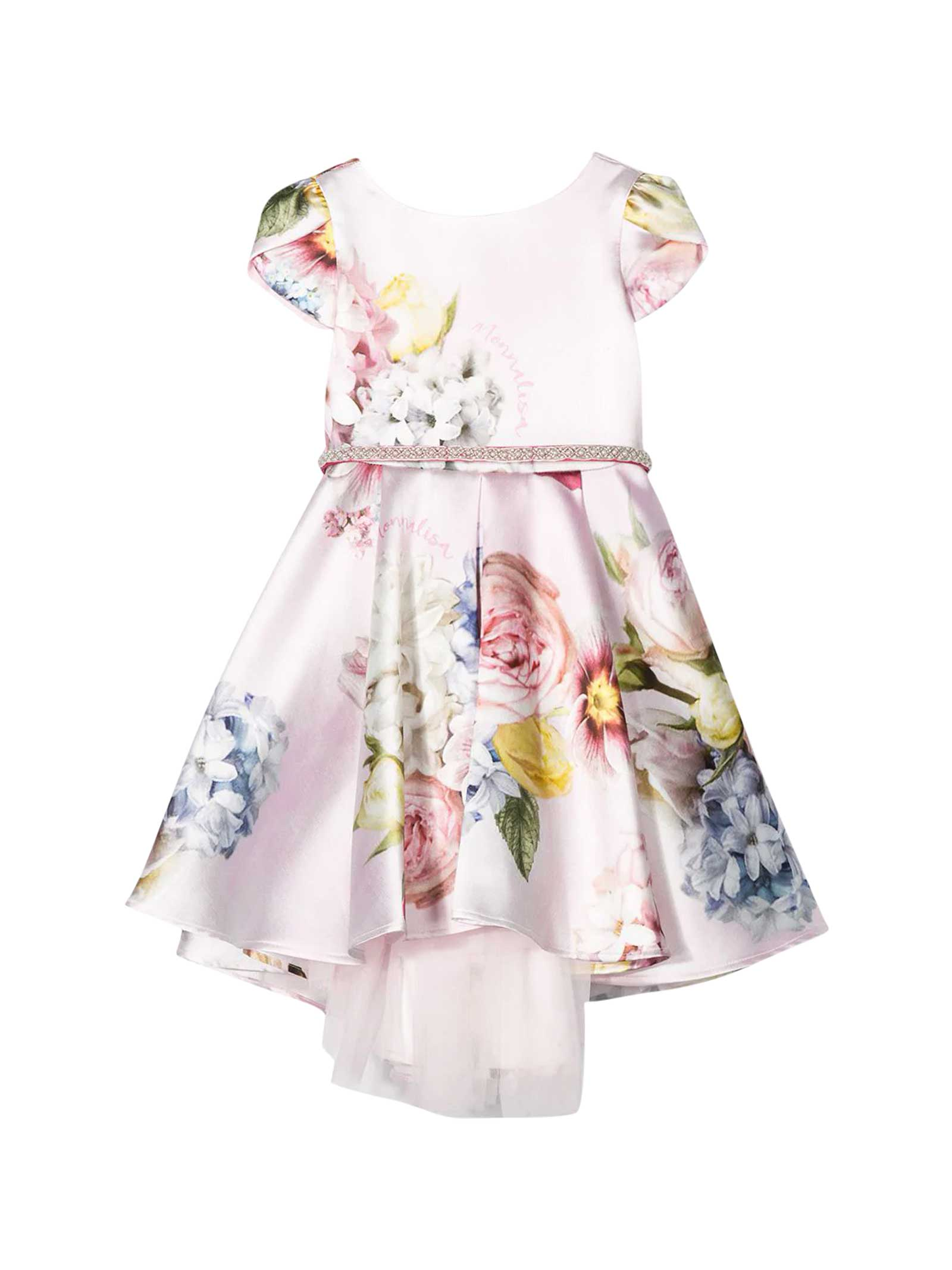 Buy Monnalisa Floreal Dress online, shop Monnalisa with free shipping