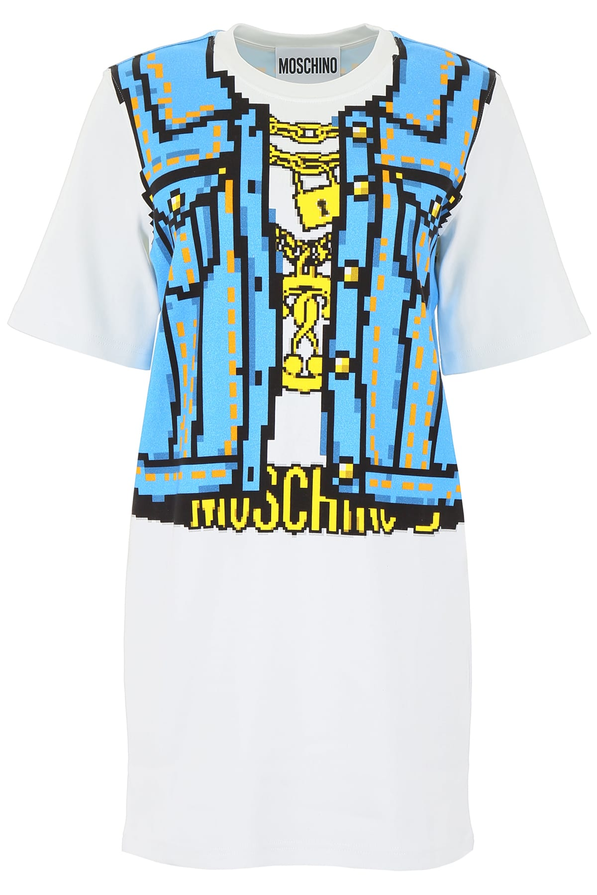 Moschino Denim Print Mini Dress