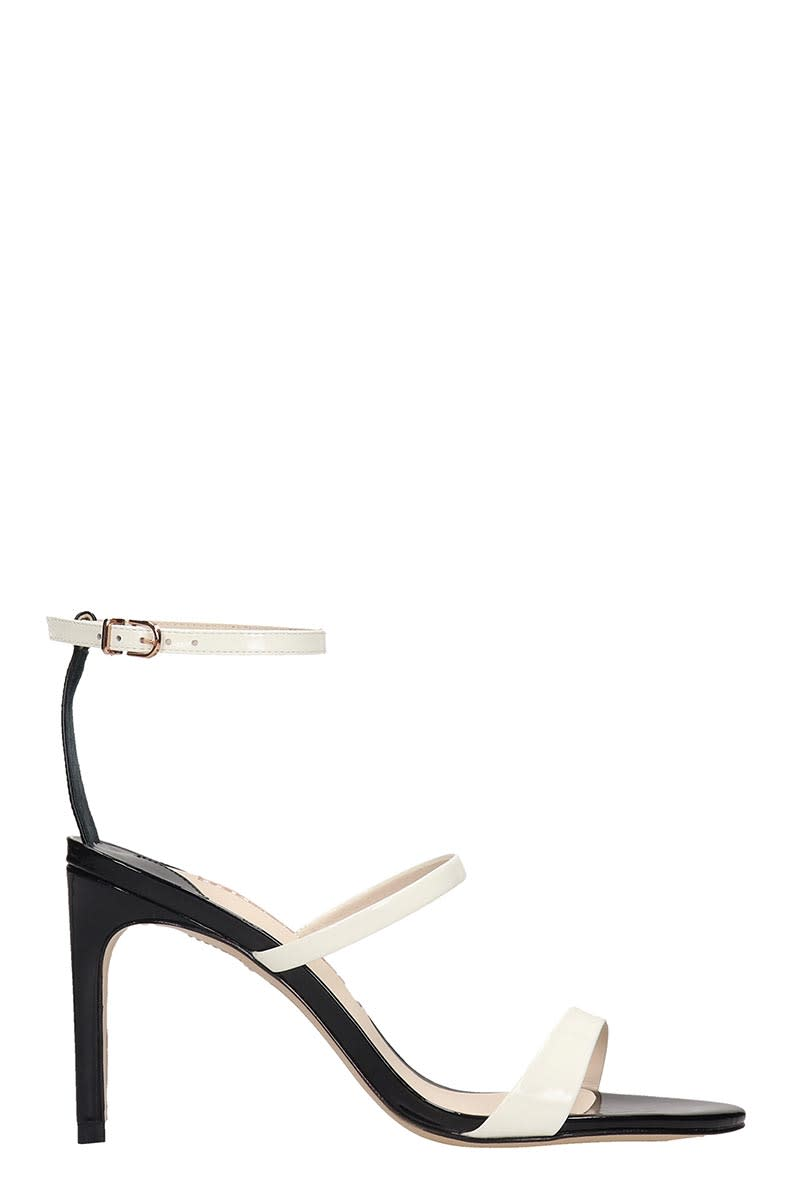 Sophia Webster Sandals ROSALIND MID SANDALS IN BLACK PATENT LEATHER