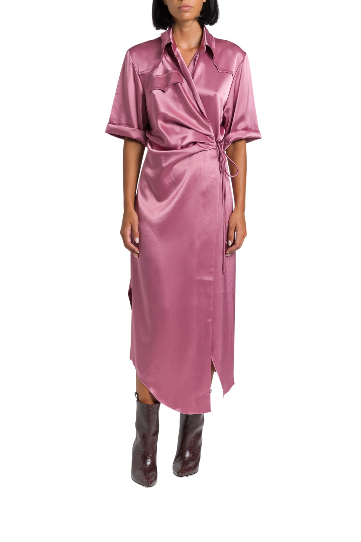 Nanushka Satin Lais Long Dress