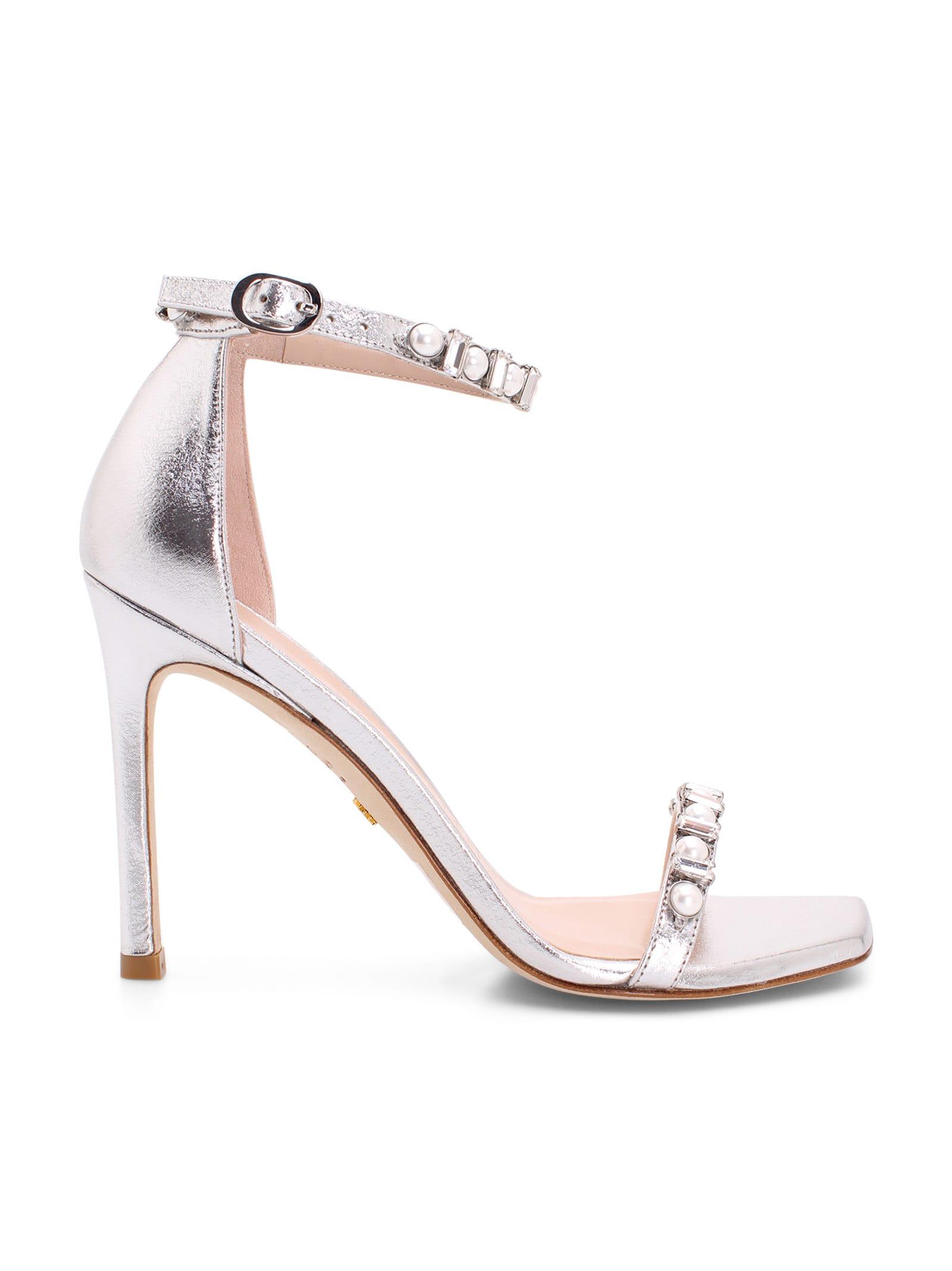 Buy Stuart Weitzman amelina Leather Sandals online, shop Stuart Weitzman shoes with free shipping