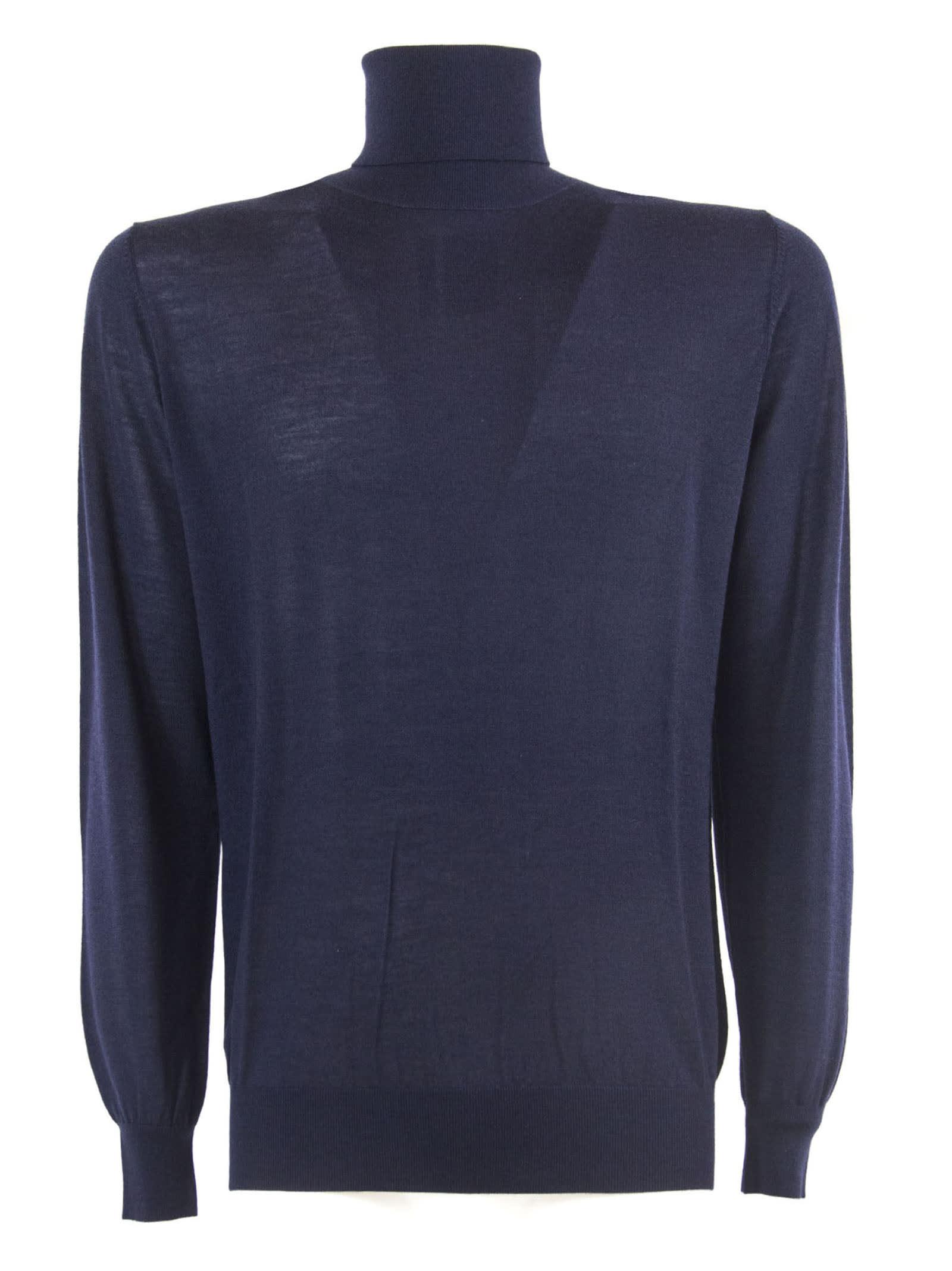 Blue Merino Wool Sweater