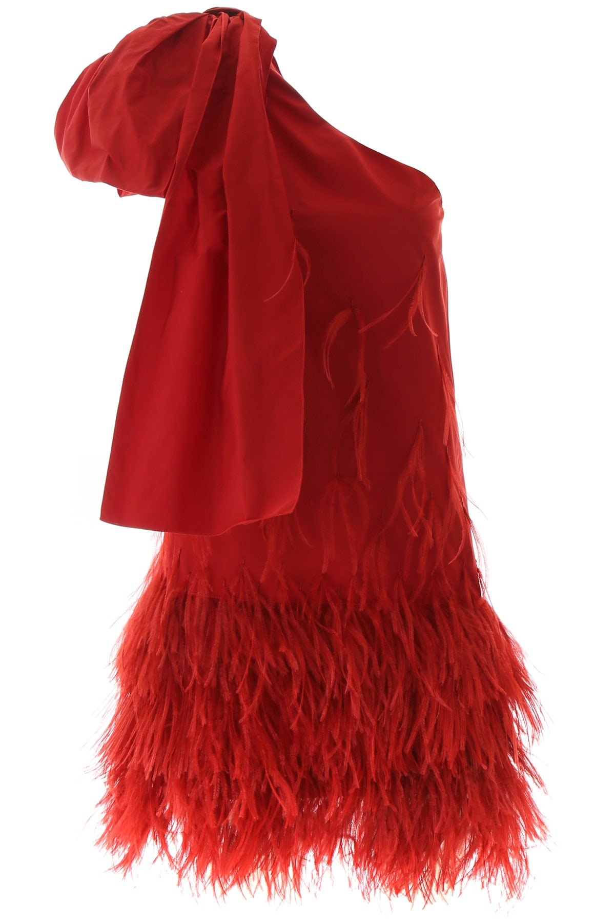 Buy N.21 One-shoulder Dress With Feathers online, shop N.21 with free shipping