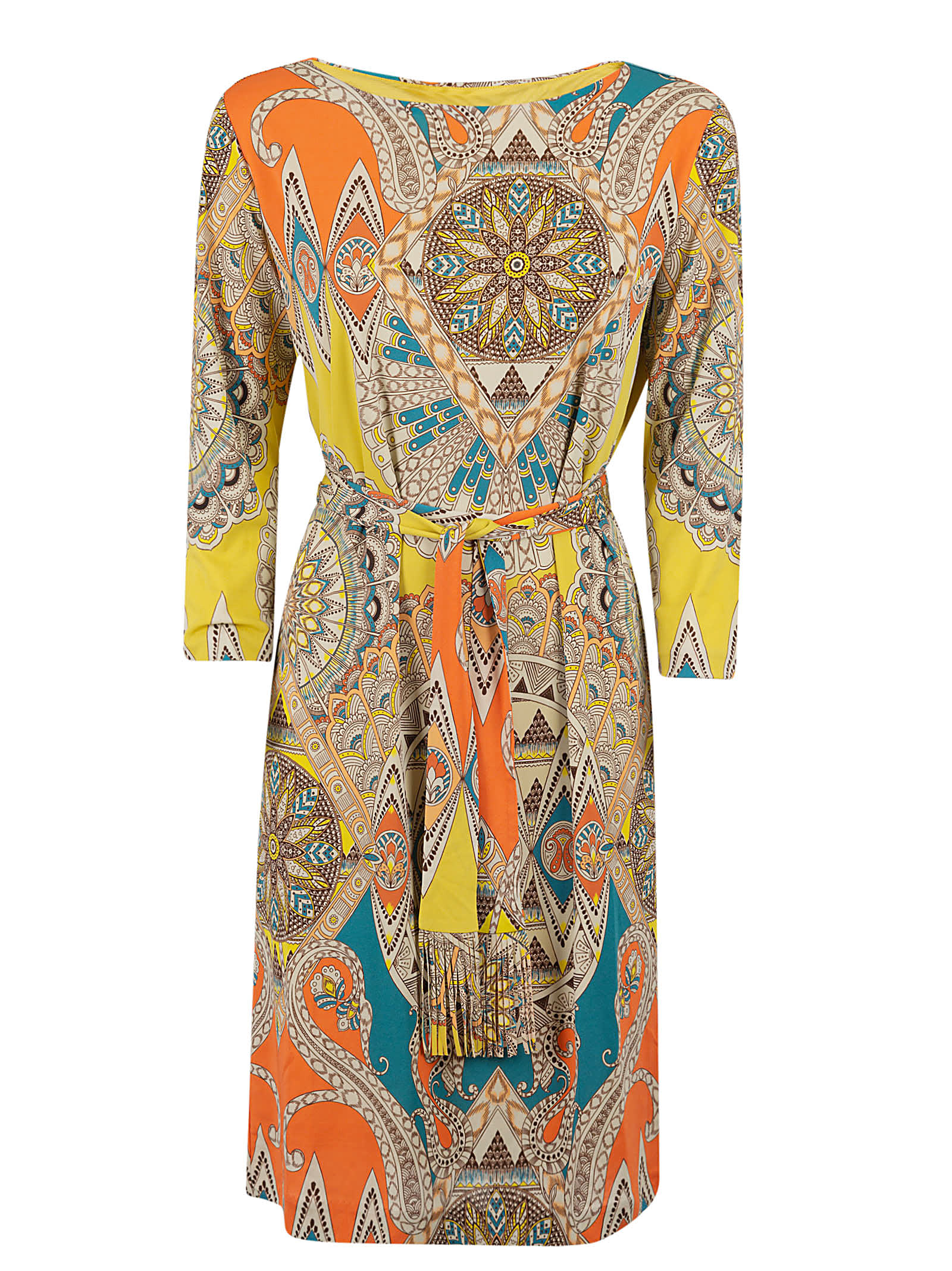 Buy Etro All-over Print Belted Dress online, shop Etro with free shipping