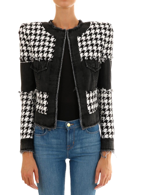 Balmain Tweed And Denim Jacket