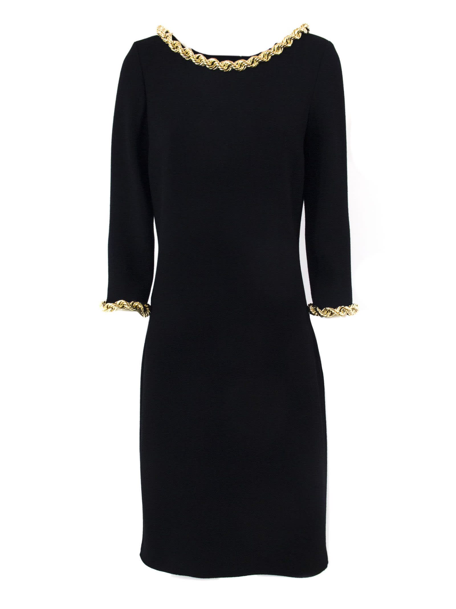 Moschino Black Virgin Wool Dress
