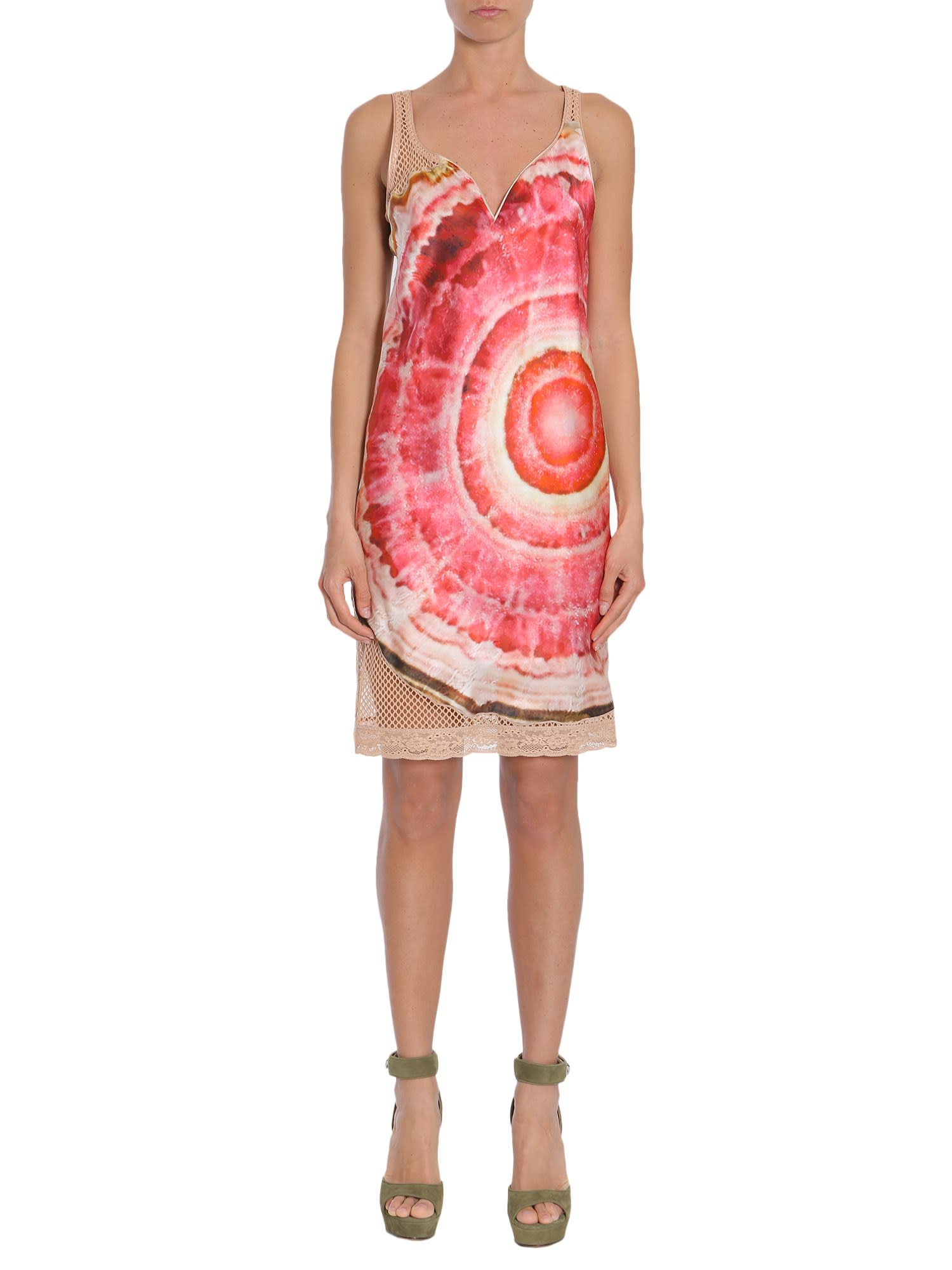 Buy Givenchy Satin And Mesh Dress online, shop Givenchy with free shipping