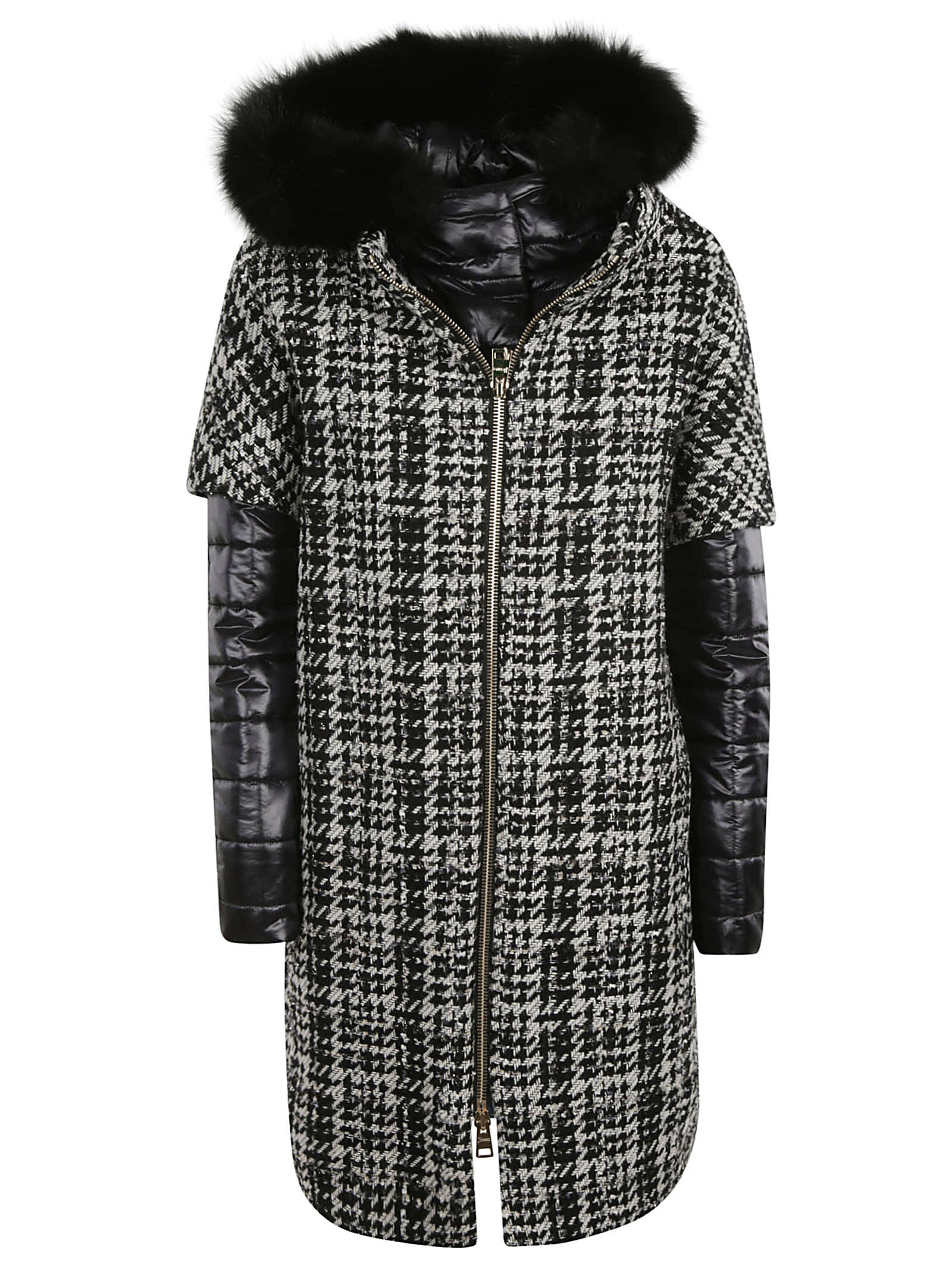 Photo of  Herno Furry Collar Knitted Parka- shop Herno jackets online sales