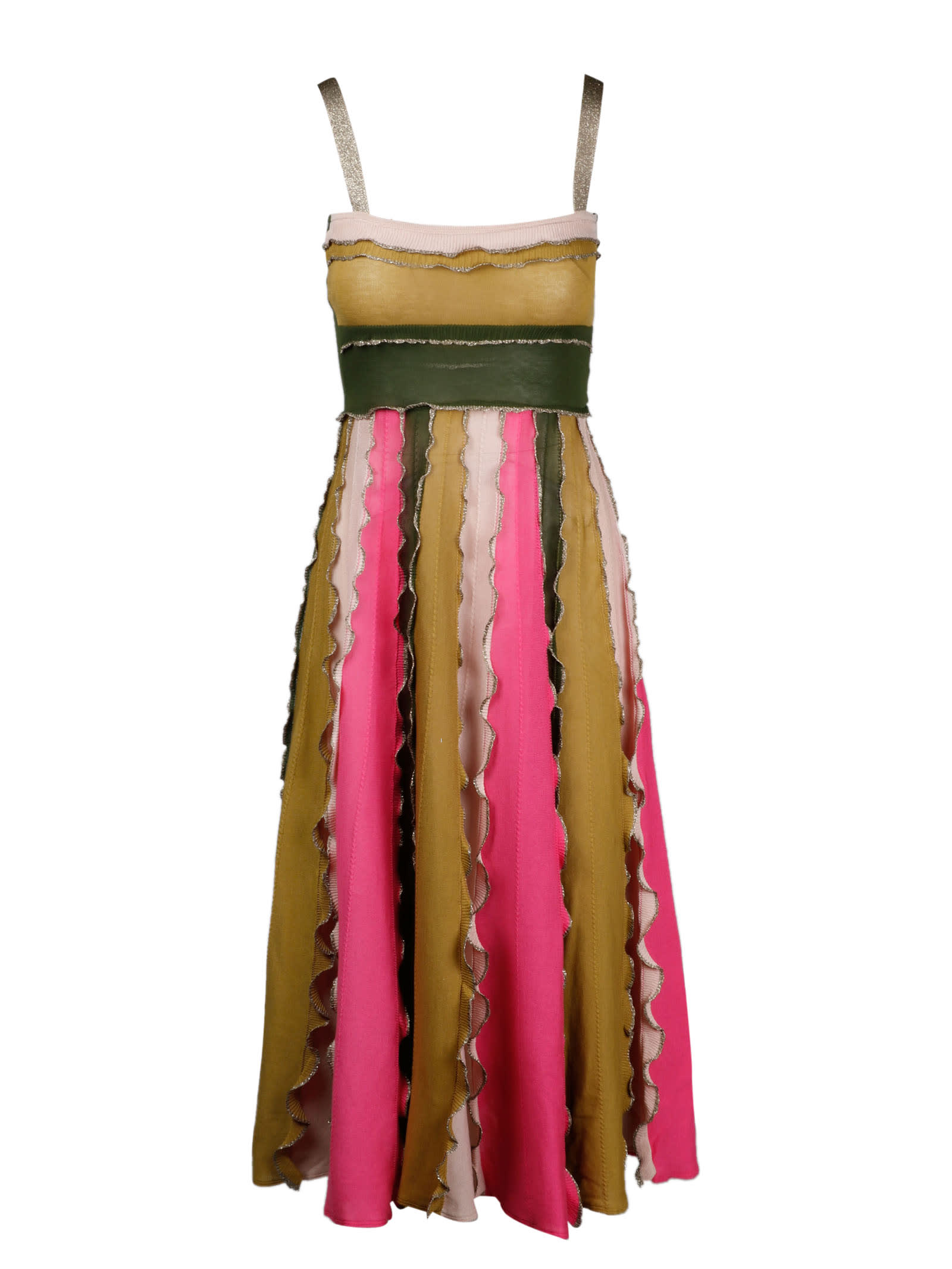 Buy RED Valentino Color Block Knit Dress online, shop RED Valentino with free shipping