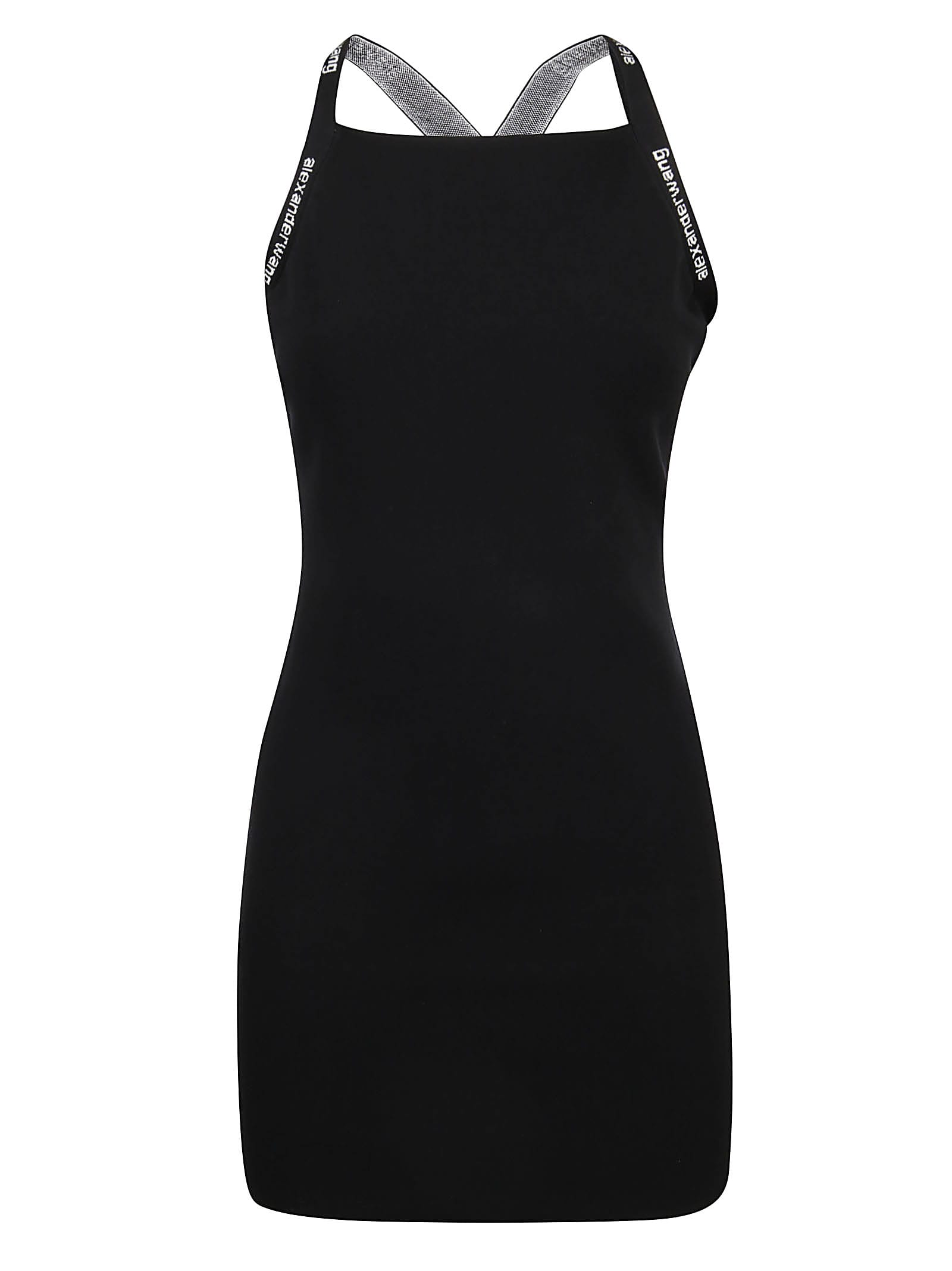 Alexander Wang Bodycon Tank Dress W/logo Jacquard Trims