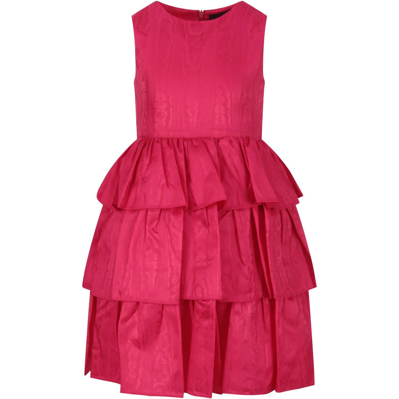 Buy Oscar de la Renta Fuchsia Dress For Girl online, shop Oscar de la Renta with free shipping