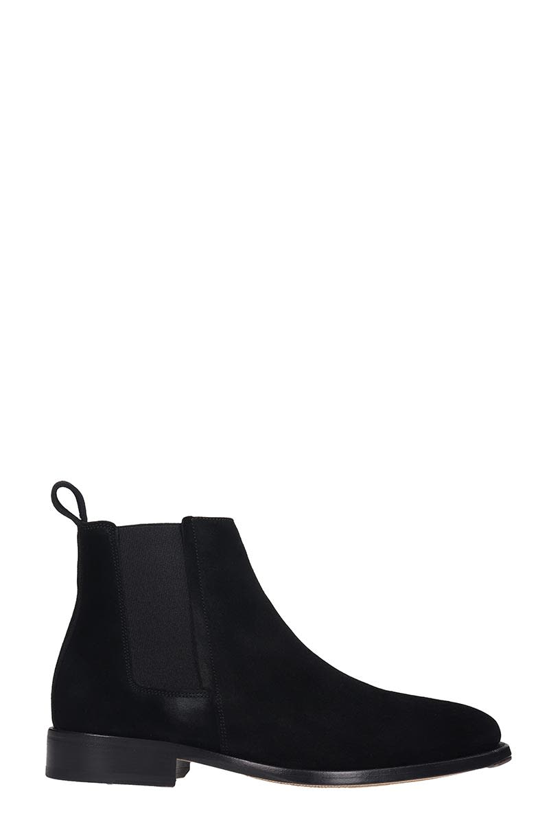 Lanvin High Heels Ankle Boots In Black Suede