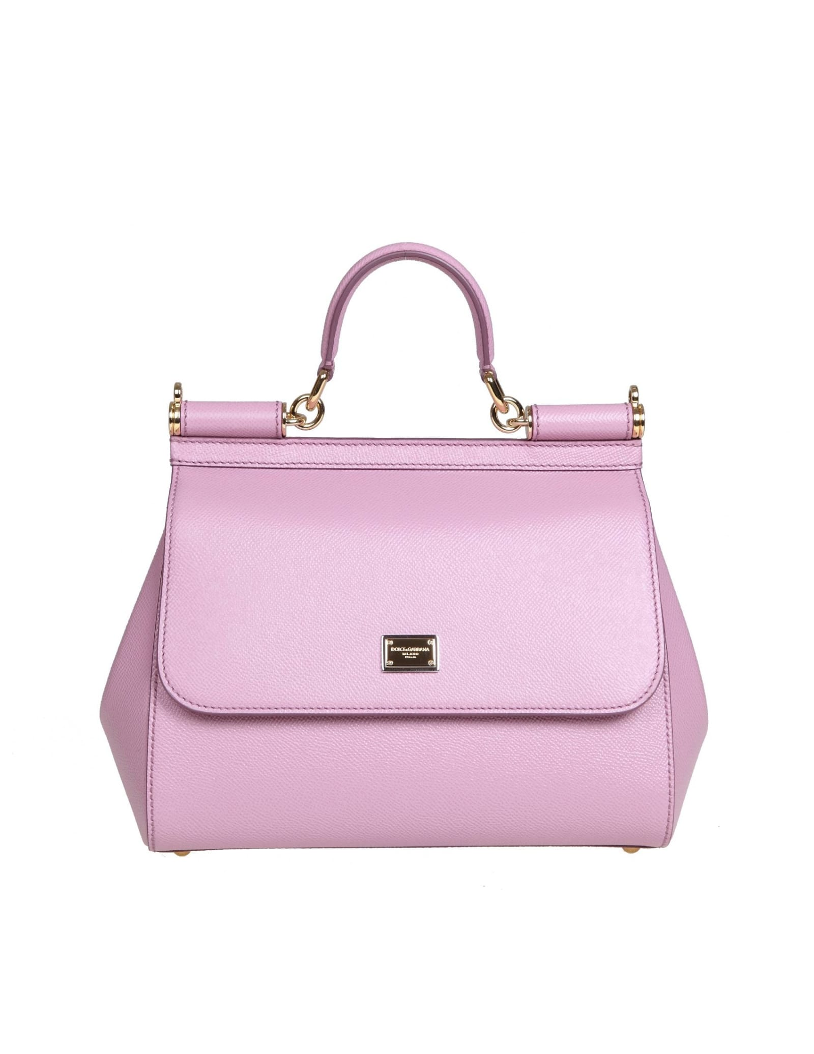 Dolce & Gabbana MEDIUM SICILY BAG IN DAUPHINE LEATHER