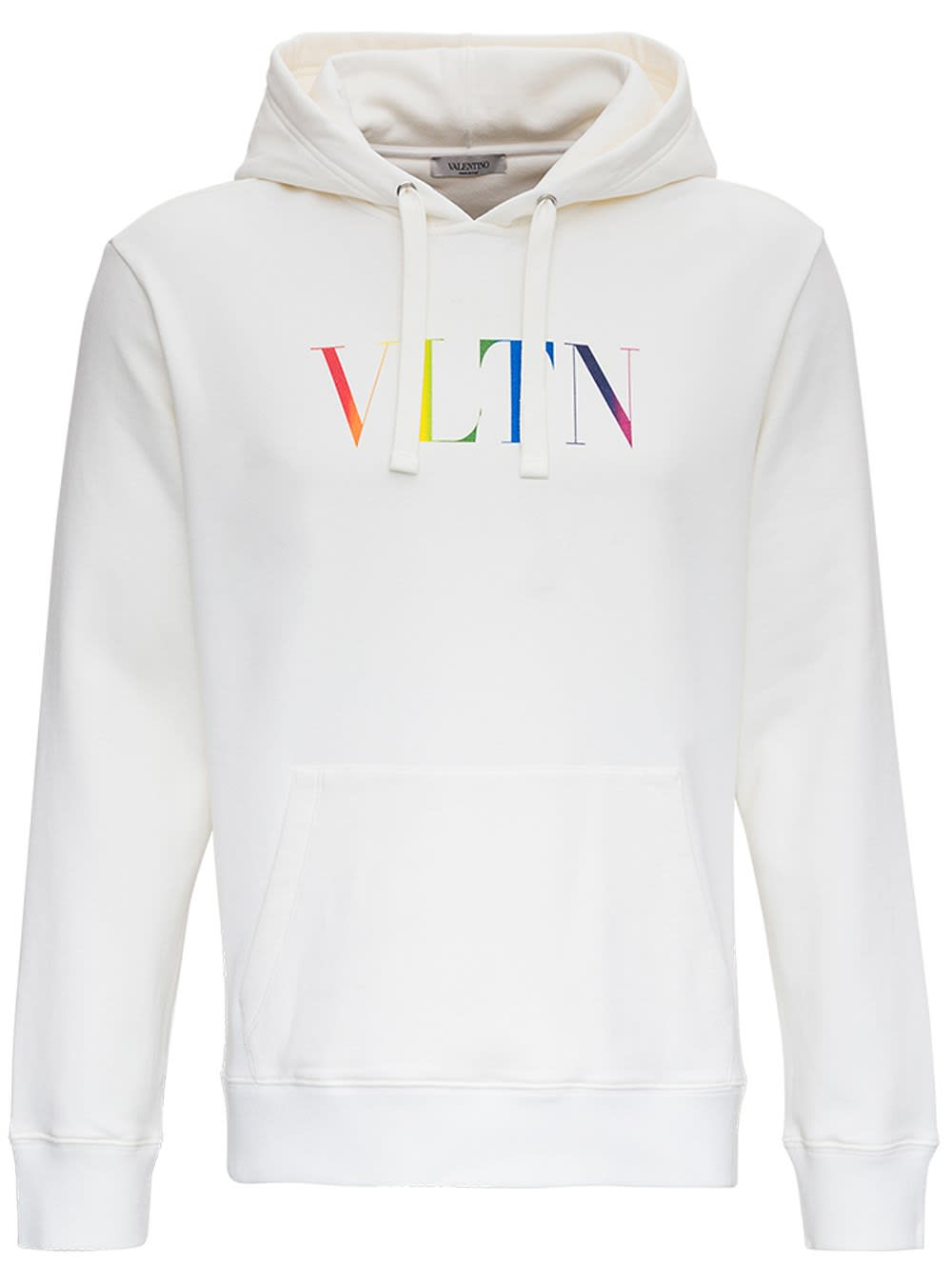 VALENTINO JERSEY HOODIE WITH VLTN LOGO PRINT
