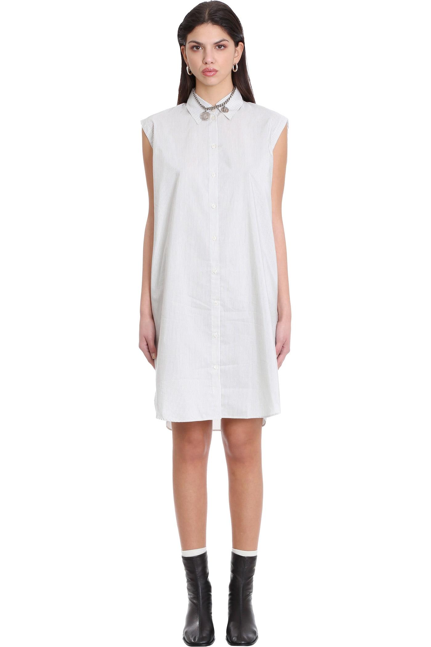 Acne Studios Devora Dress In Beige Cotton