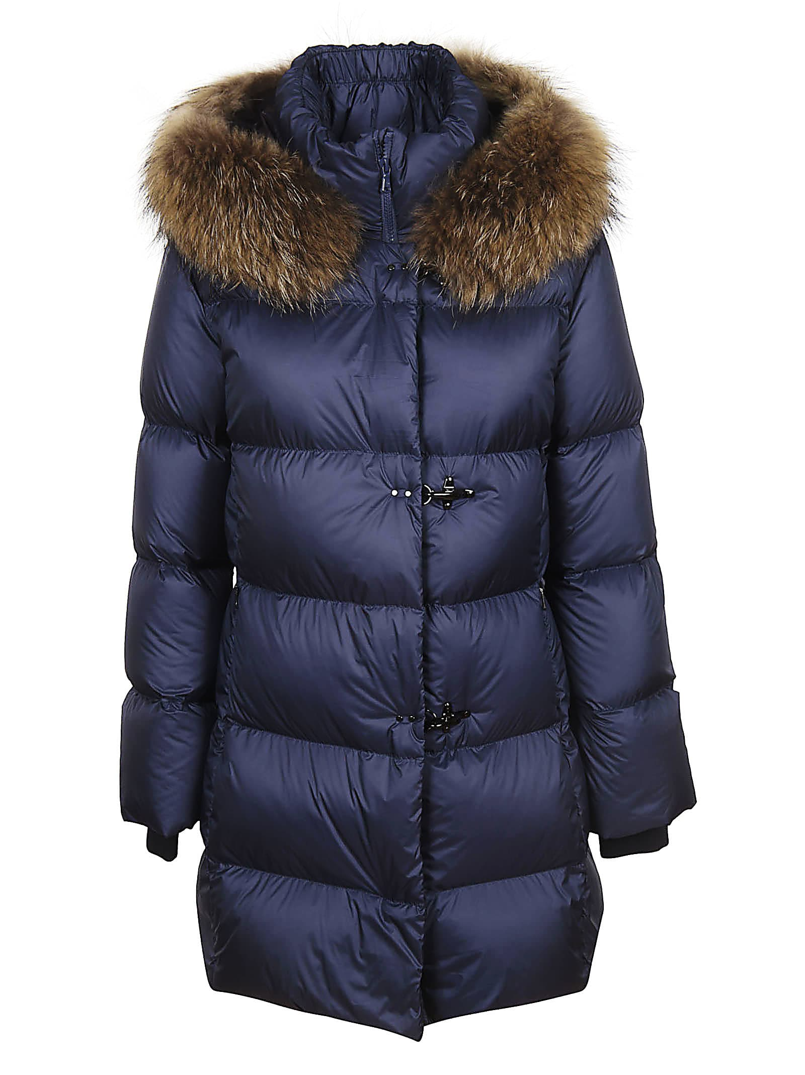 Fay Fur Trimmed Down Jacket