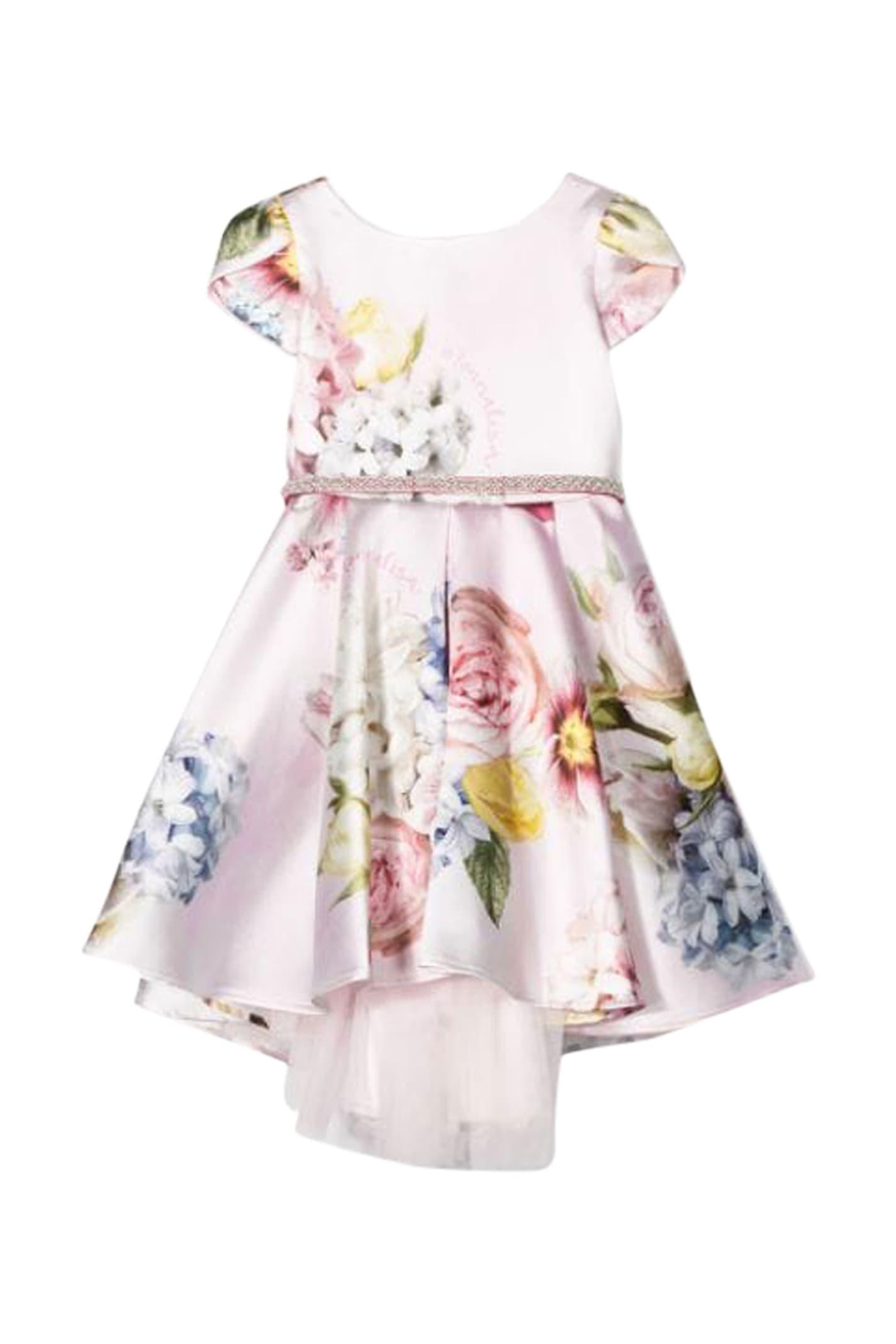 Buy Monnalisa Flower Dress online, shop Monnalisa with free shipping