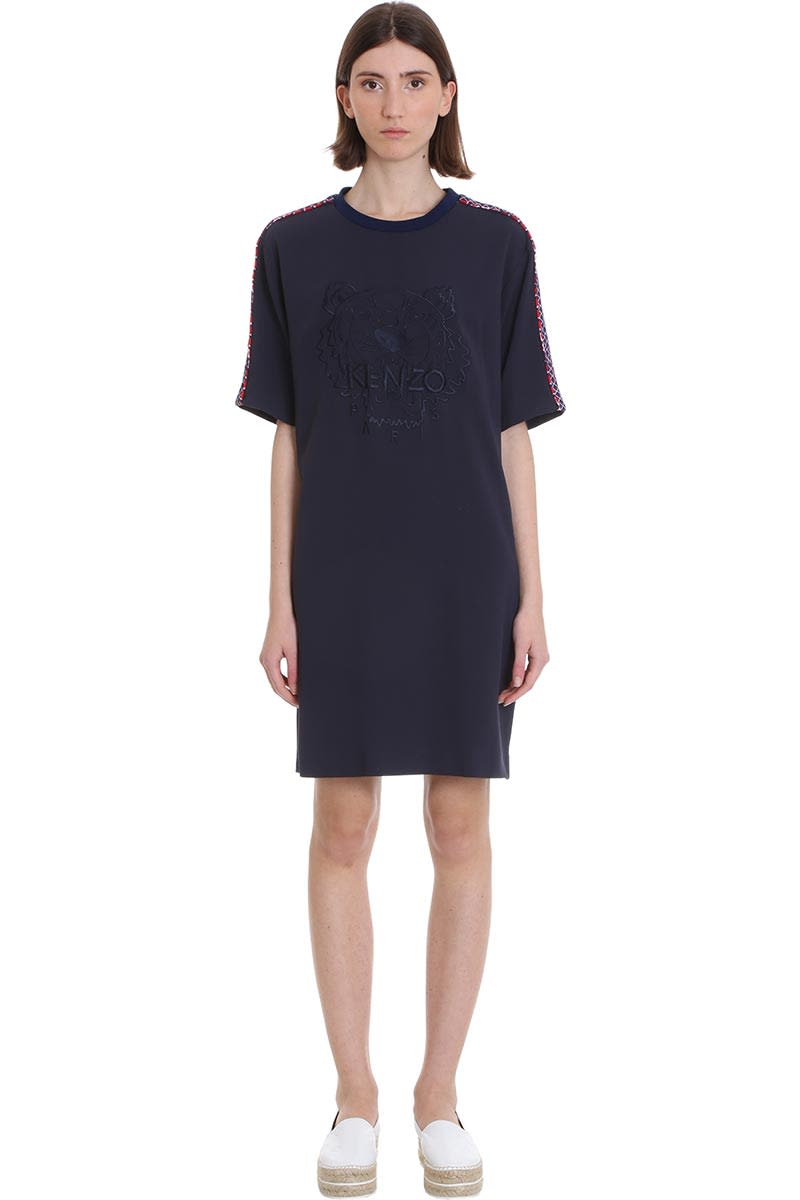 Buy Kenzo Dress In Blue Tech/synthetic online, shop Kenzo with free shipping
