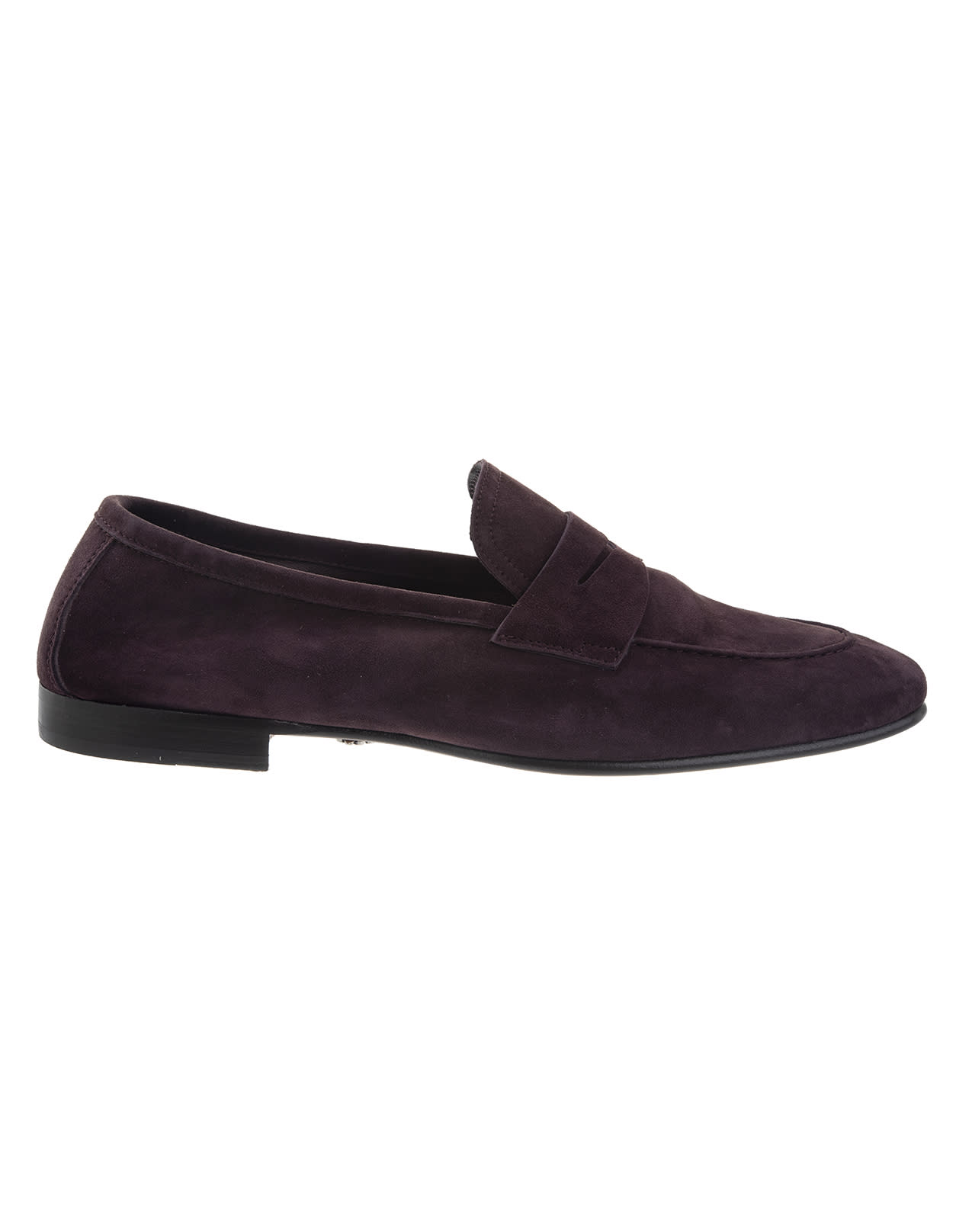 Elegant Loafer In Purple Suede