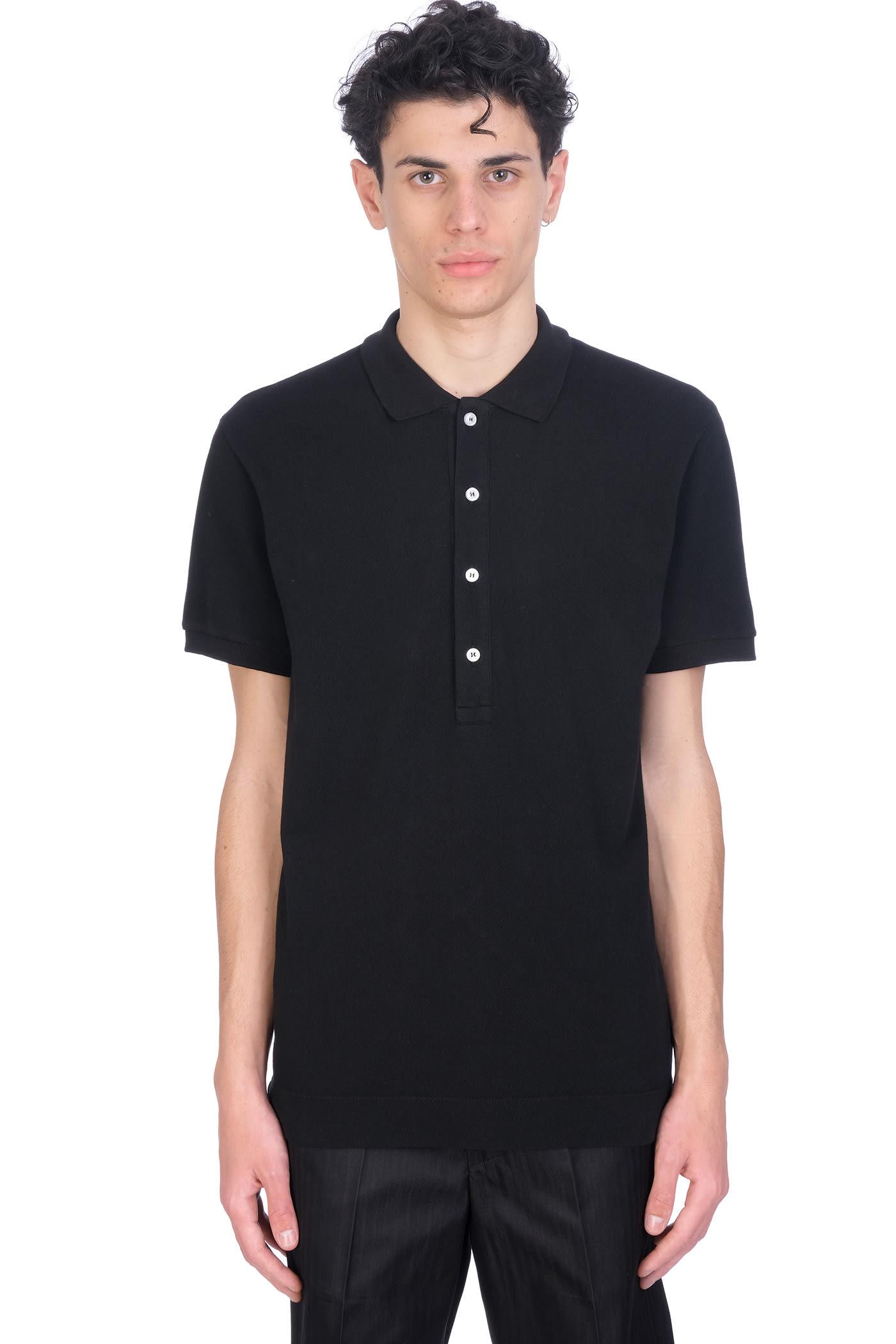Polo In Black Cotton