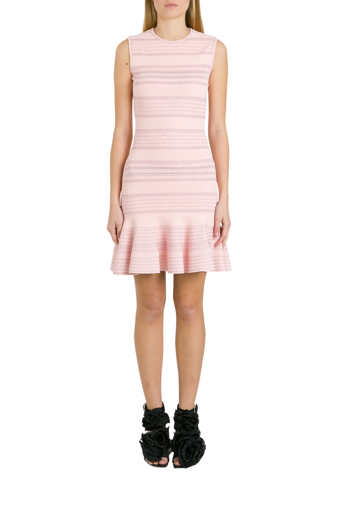 Alexander Mcqueen Dresses TEXTURED KNIT EMBOSSED DRESS