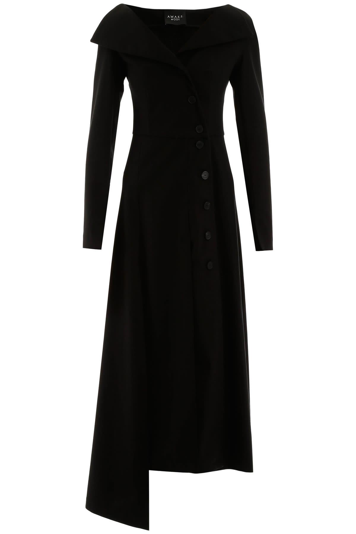Buy A.W.A.K.E. Mode Buttoned Dress online, shop A.W.A.K.E. Mode with free shipping