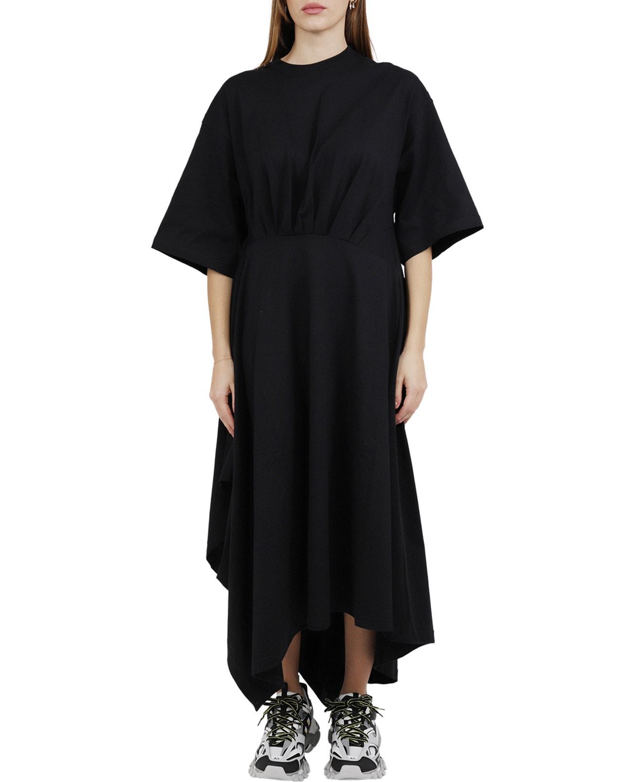 Balenciaga Black Wrap T-shirt Dress