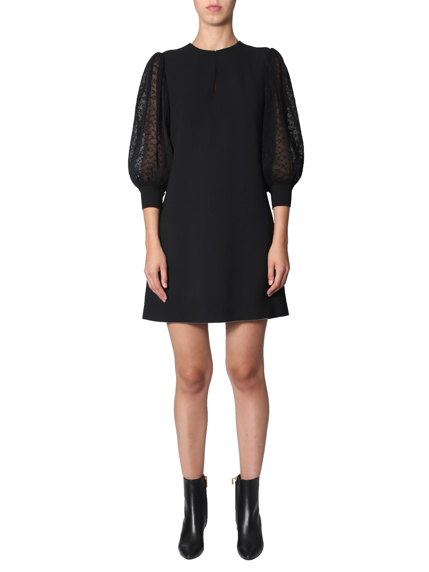 Buy Givenchy Dress With Pleated Sleeves online, shop Givenchy with free shipping