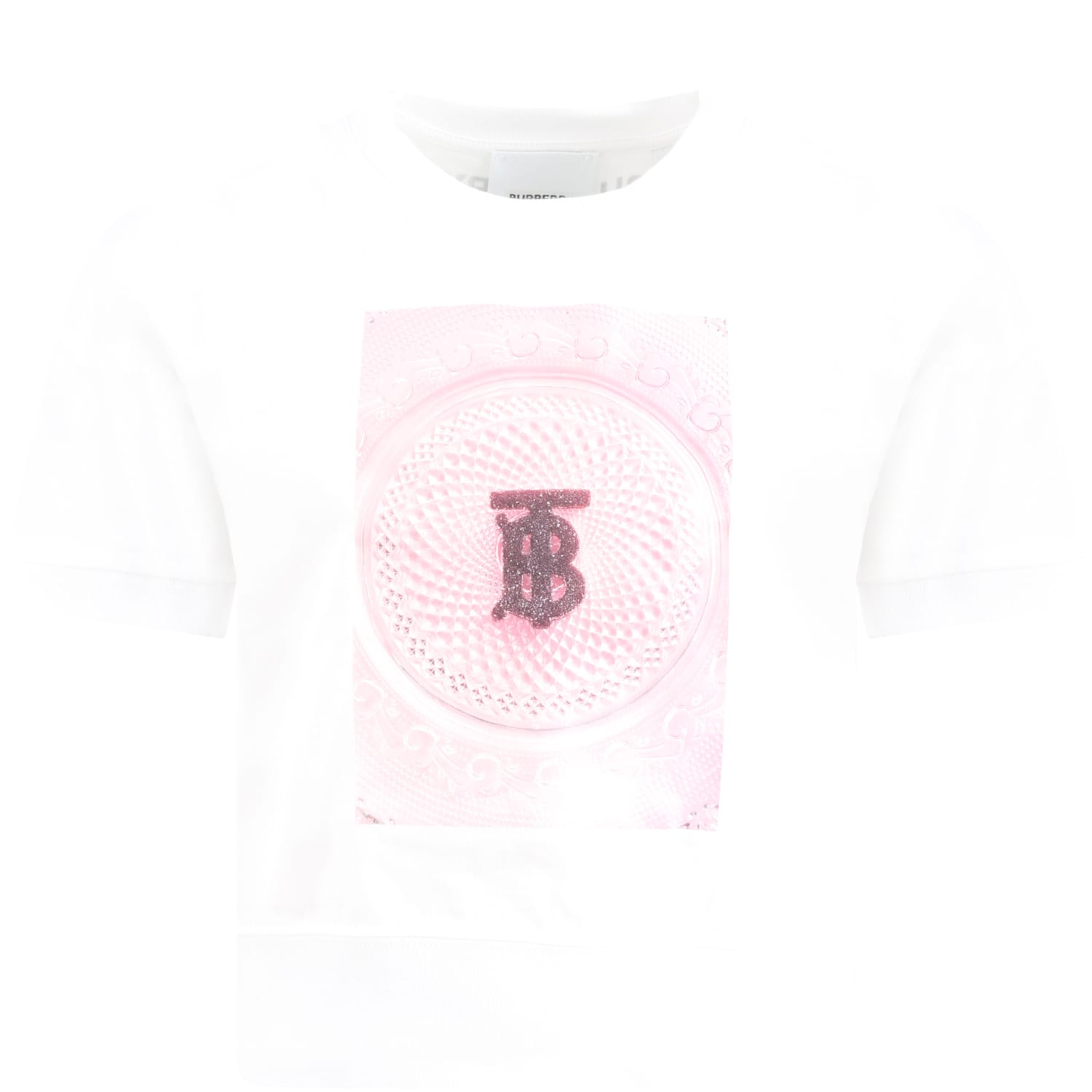 Burberry WHITE T-SHIRT FOR GIRL WITH LOGO