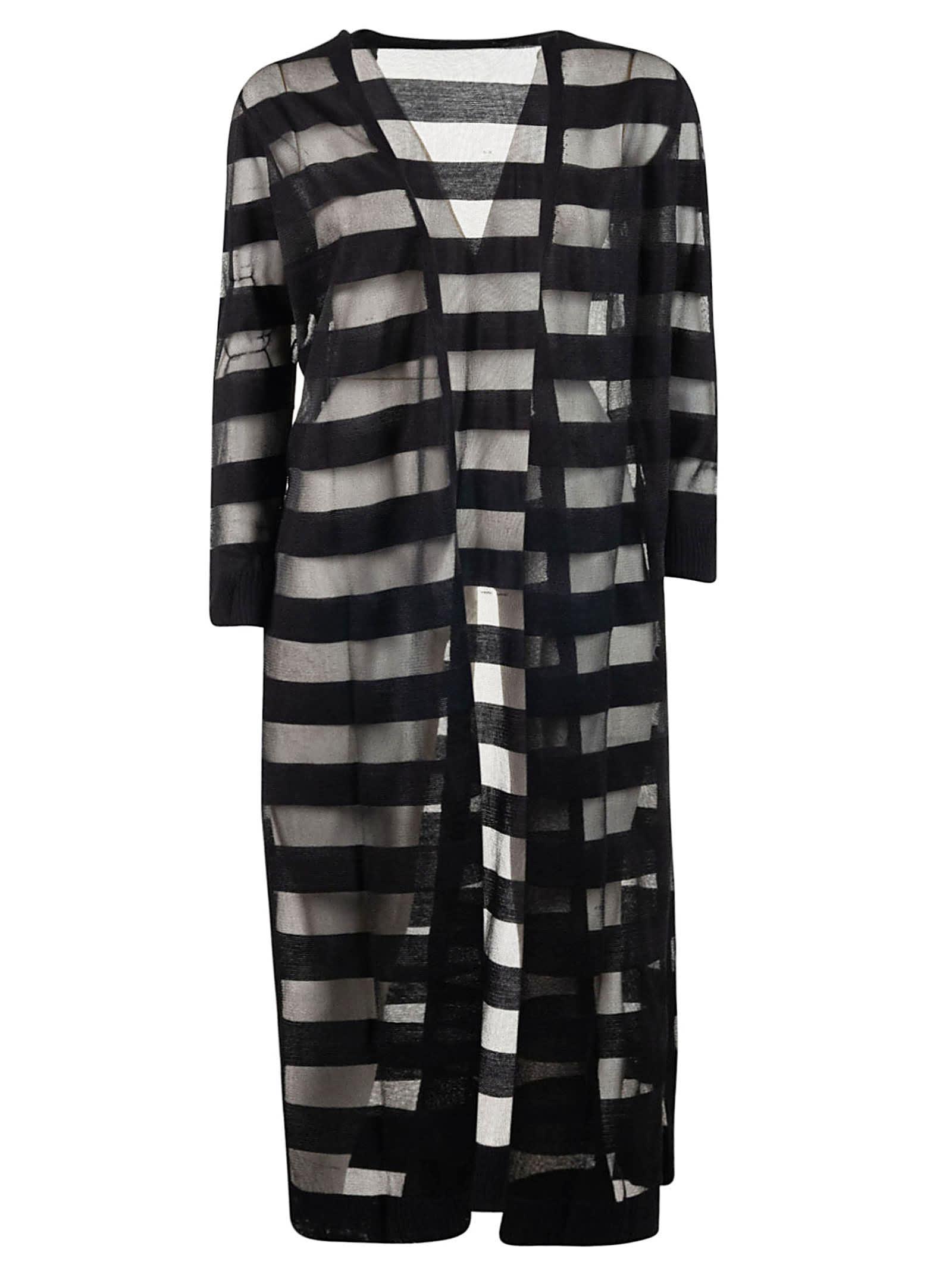 Armani Collezioni Striped Cardi-coat