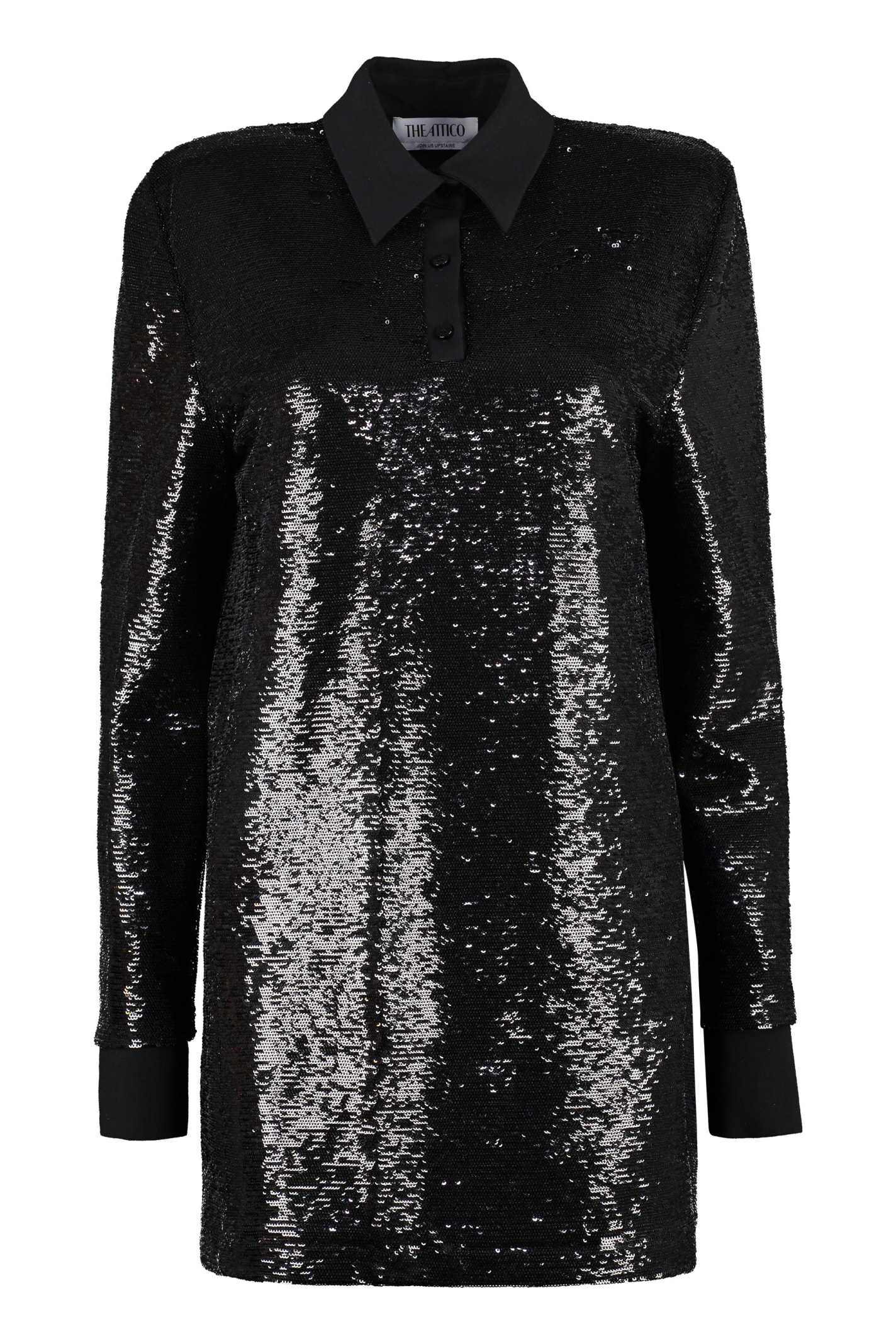Buy The Attico Sequined Mini-dress online, shop The Attico with free shipping