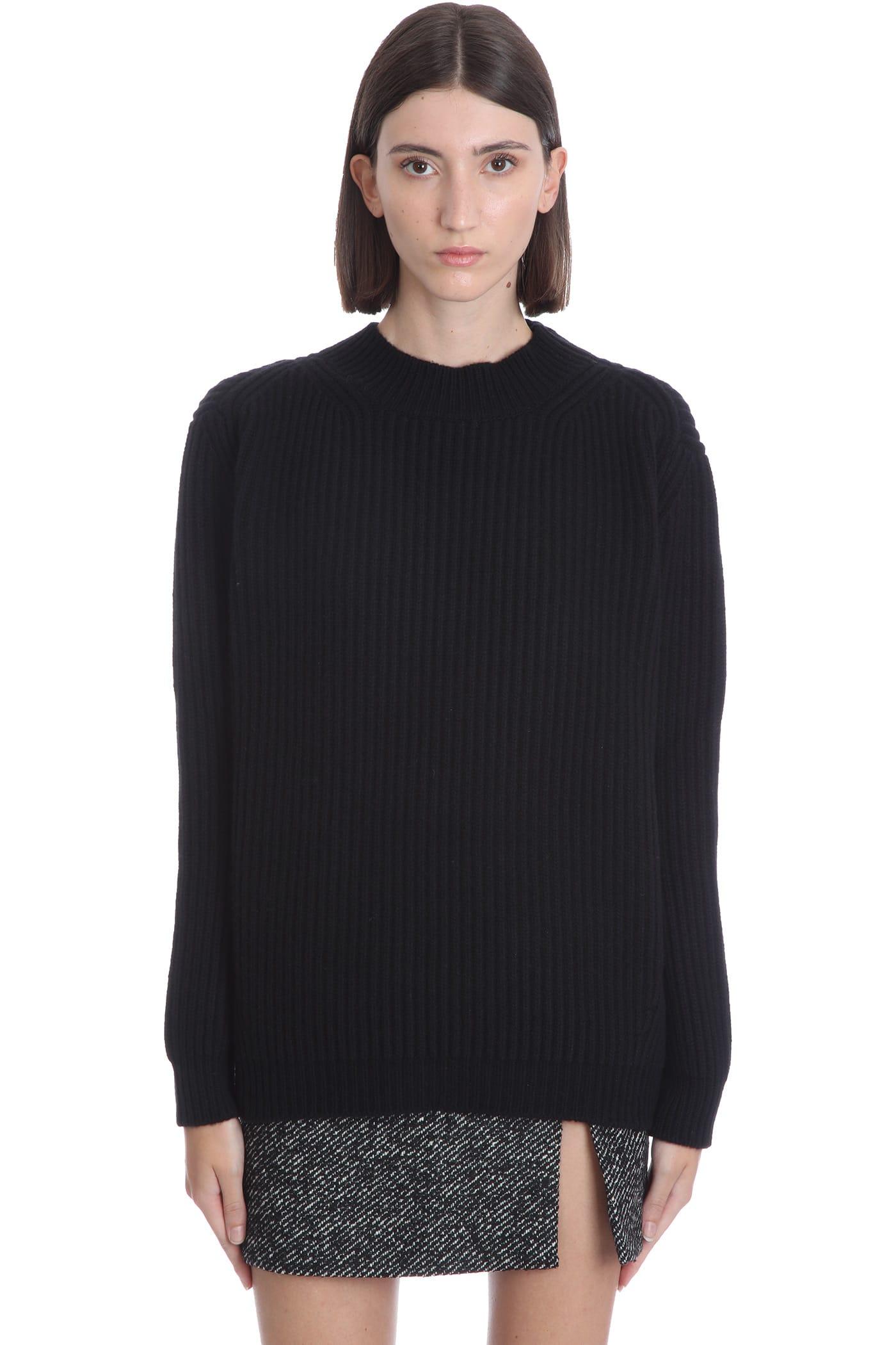 Faye Knitwear In Black Wool