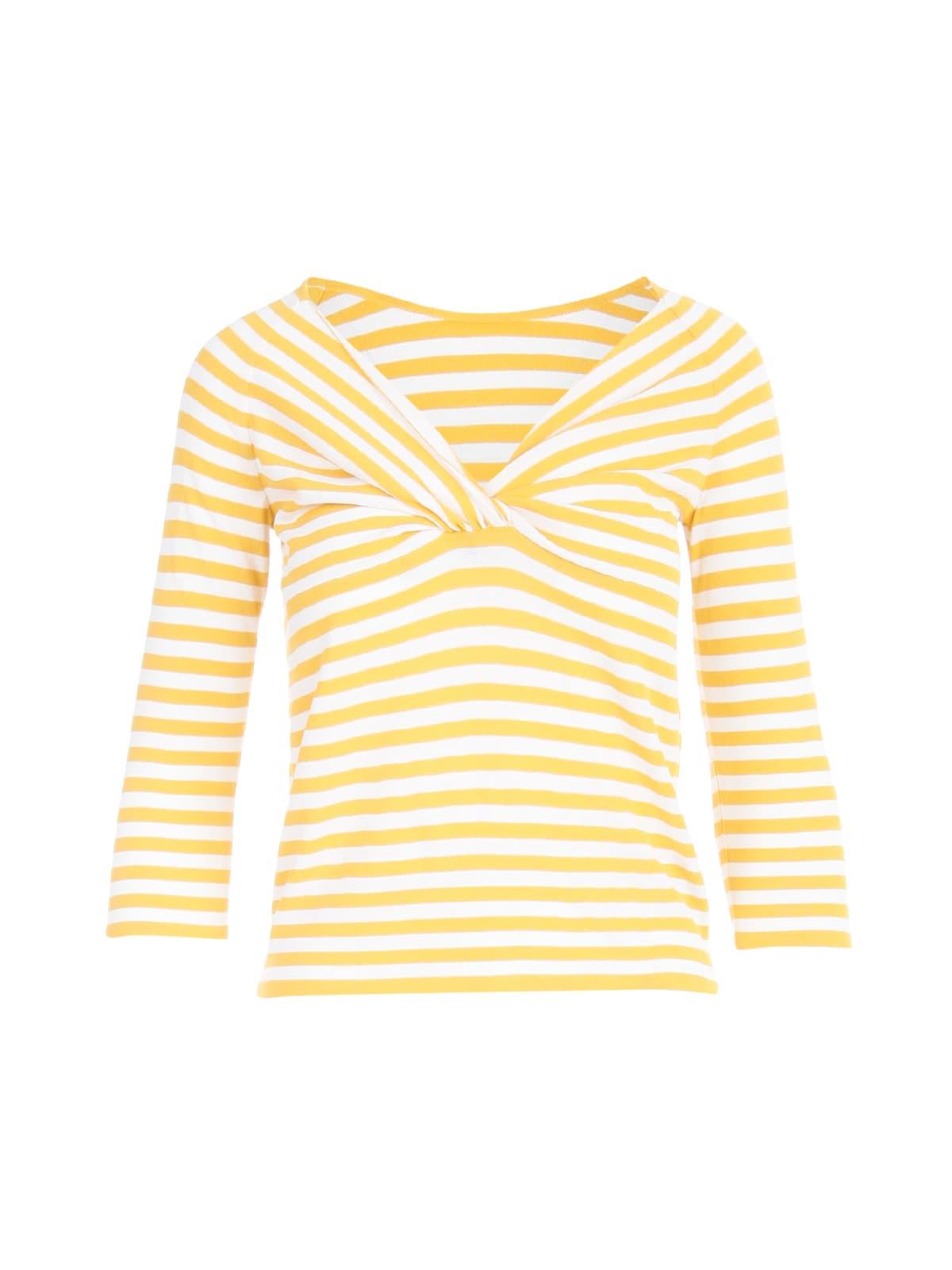 Striped Sweater W/knot