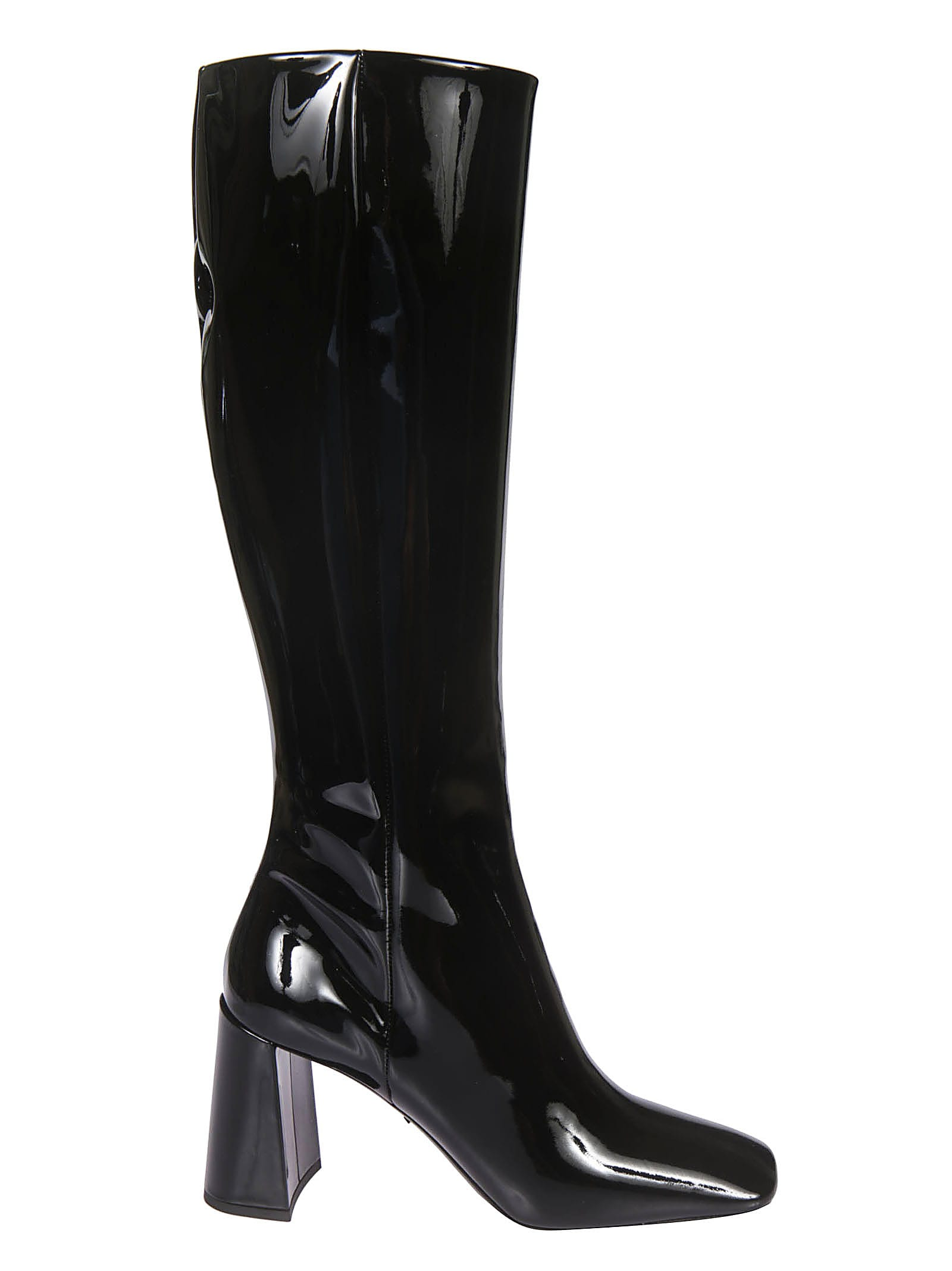 Buy Prada Vernice High Boots online, shop Prada shoes with free shipping