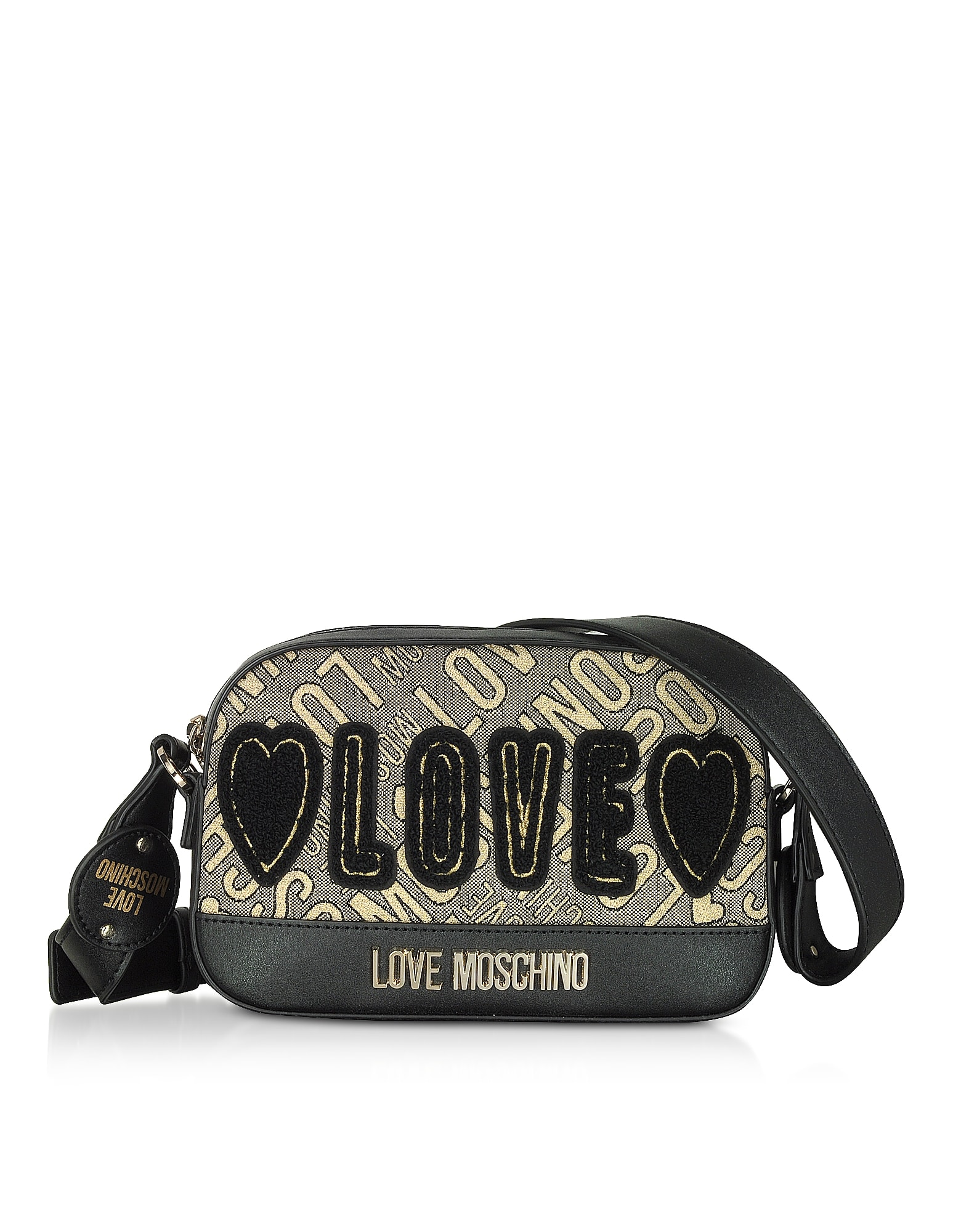 Love Moschino SIGNATURE CANVAS AND ECO LEATHER CAMERA BAG