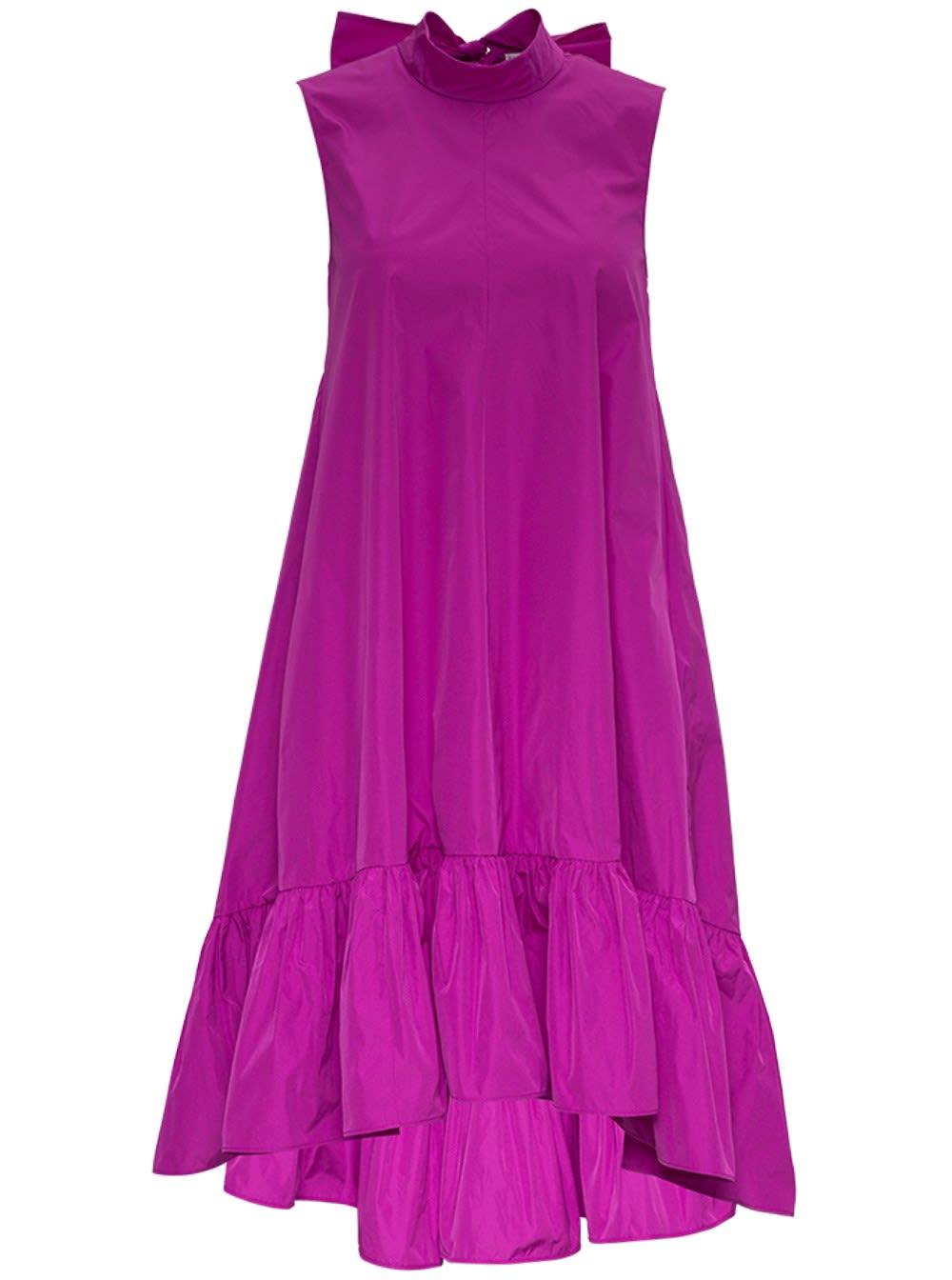 Red Valentino Flared Taffeta Dress In Pink
